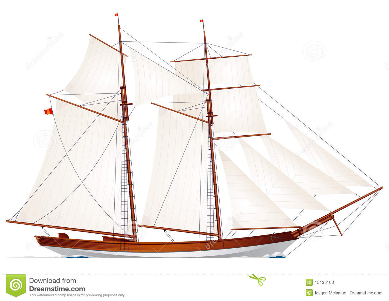 Schooner. Sailboat. Sailing Vessel Stock Photos - Image: 15130103