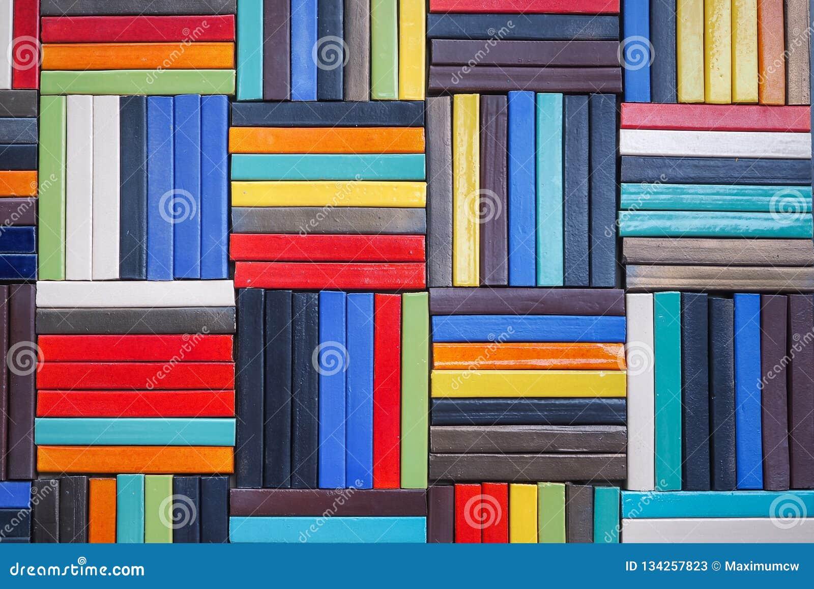 Schoonheid van de kleurrijke staalmuren