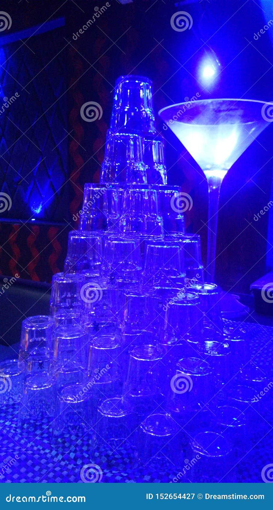 Schoonheid van Glazenschaduwen van blauw