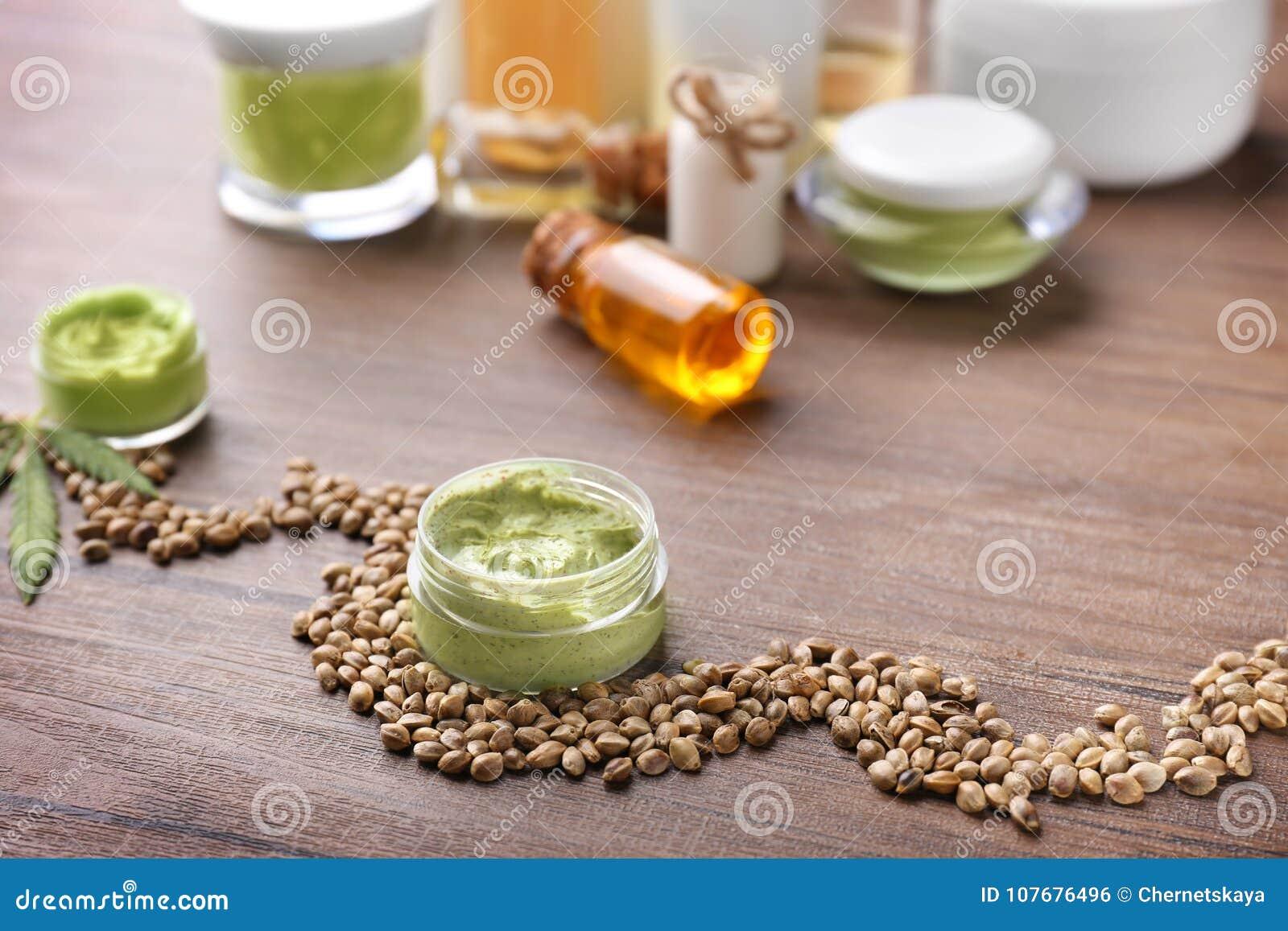 Schoonheidsmiddelen met hennepuittreksel