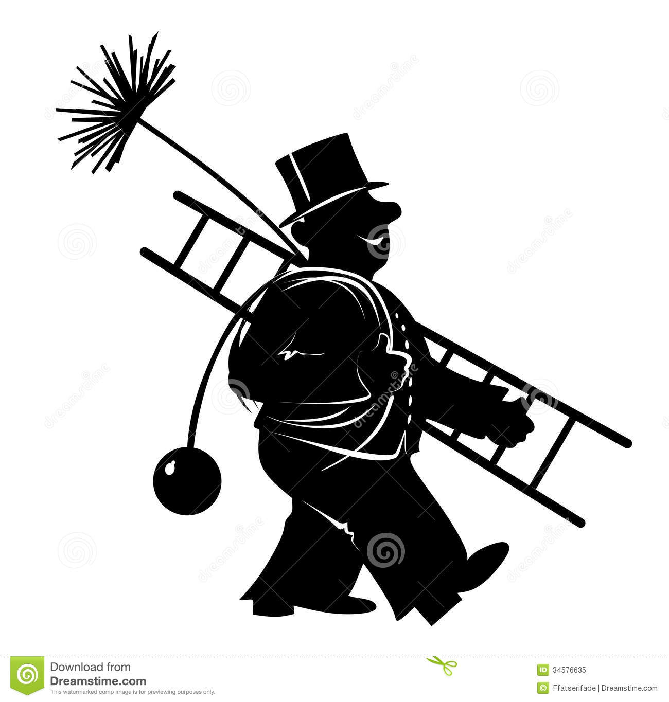 chimney stock illustration image of happy ladder cleaning