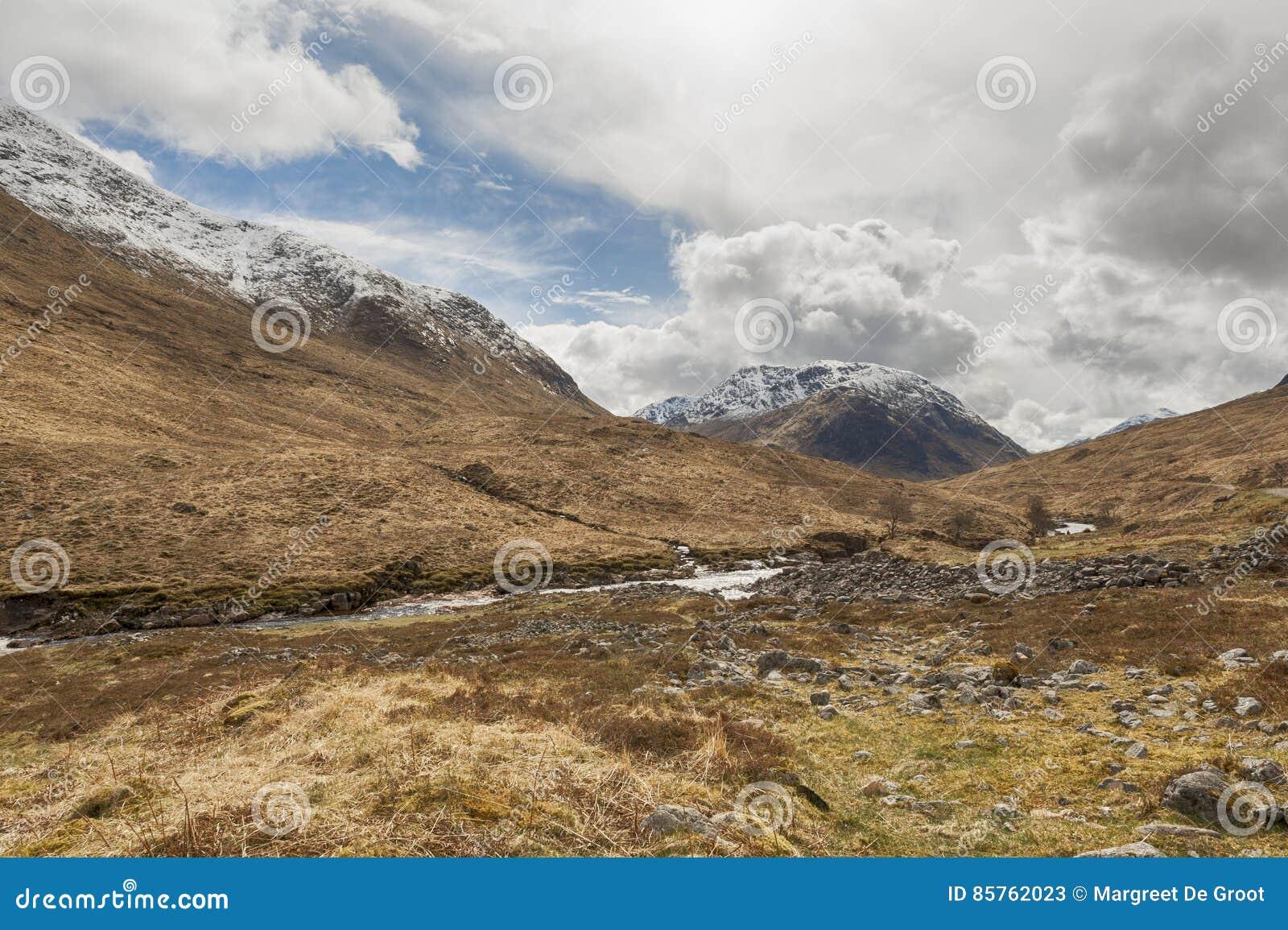 Schotse Berg en rivierscène Glen Etive