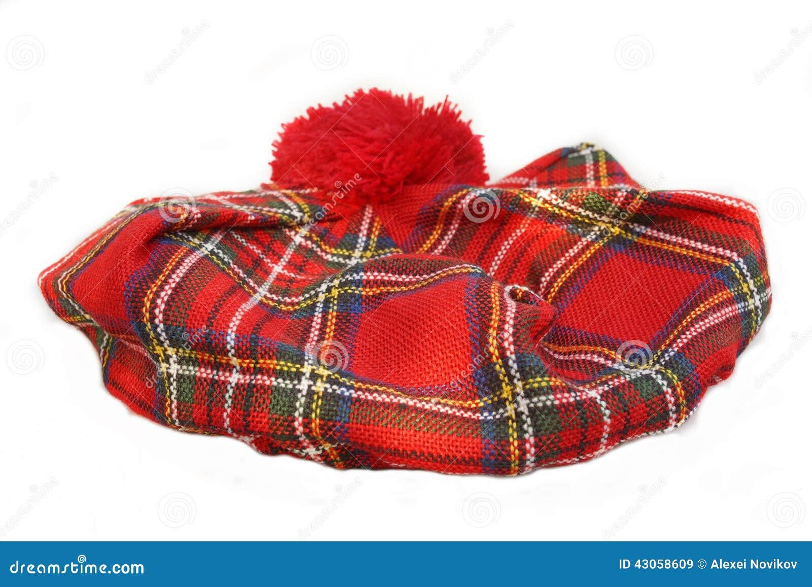 Schotse geruit Schots wollen stofhoed bonnet