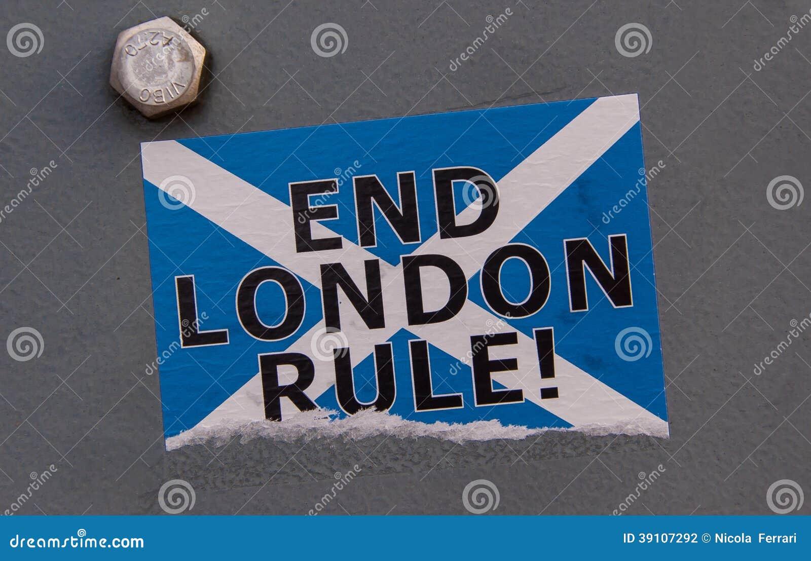 Schotse onafhankelijkheid: De regelsticker van eindlonden