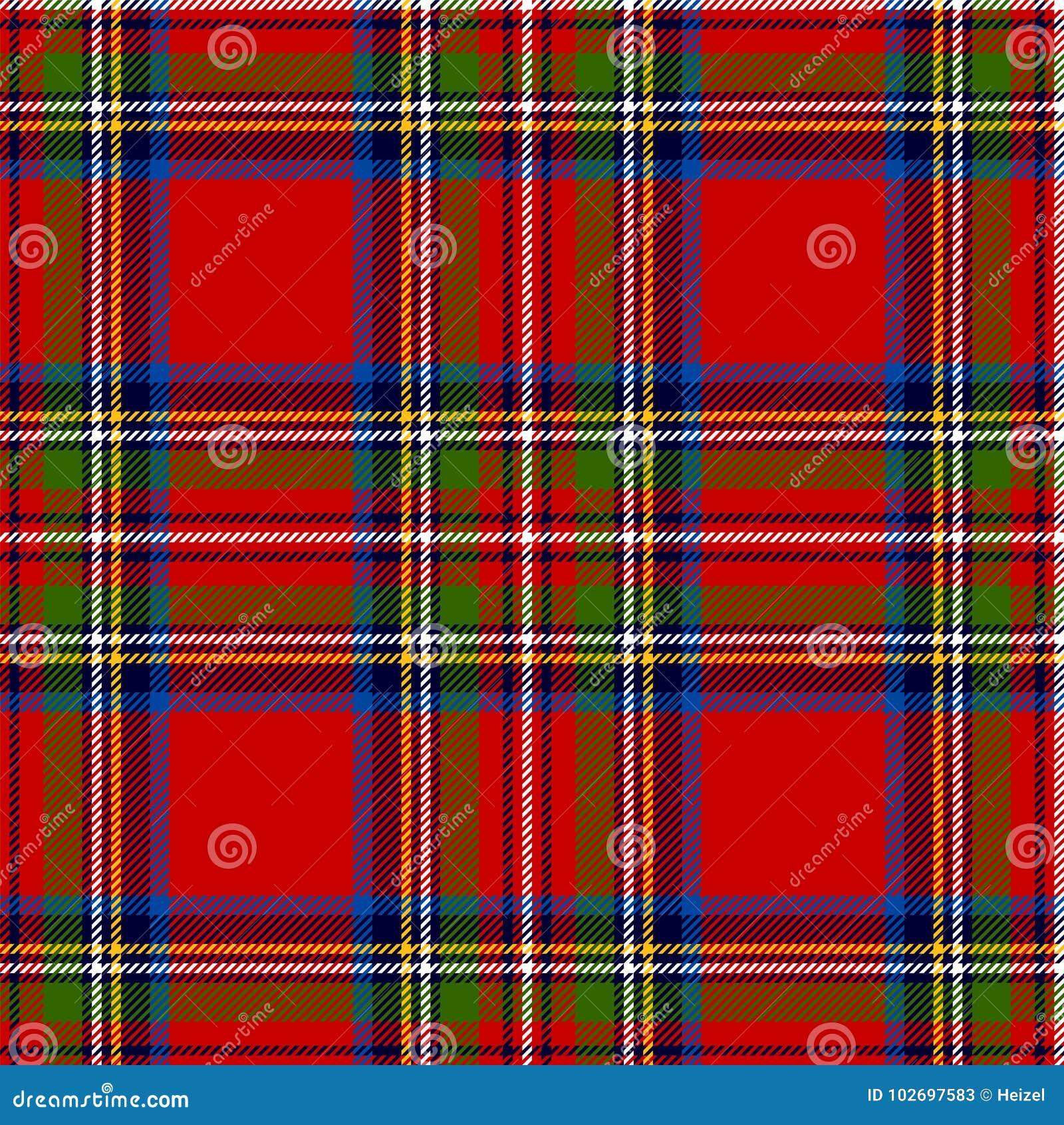 Schotse Geruite Wollen Stof.Schotse Plaid Het Koninklijke Geruite Schotse Wollen Stof