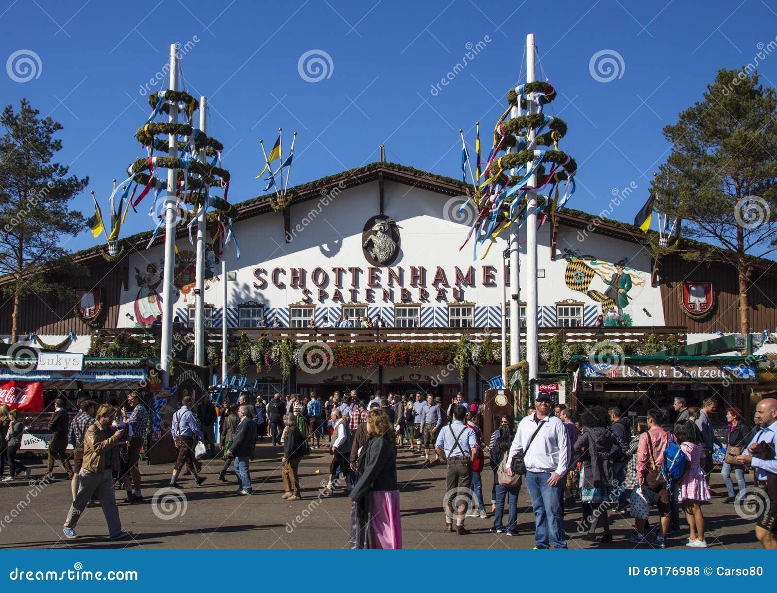Schottenhamel tent at Oktoberfest in Munich Germany 2015 & Schottenhamel Tent At Oktoberfest In Munich Germany 2015 ...