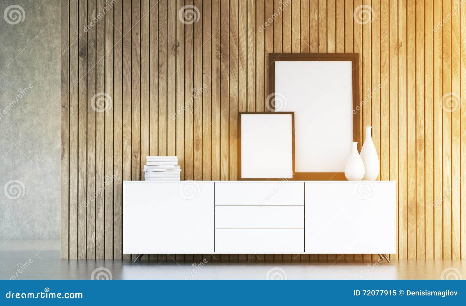 Schrank Mit Dem Rahmentonen Stock Abbildung - Illustration von feld ...