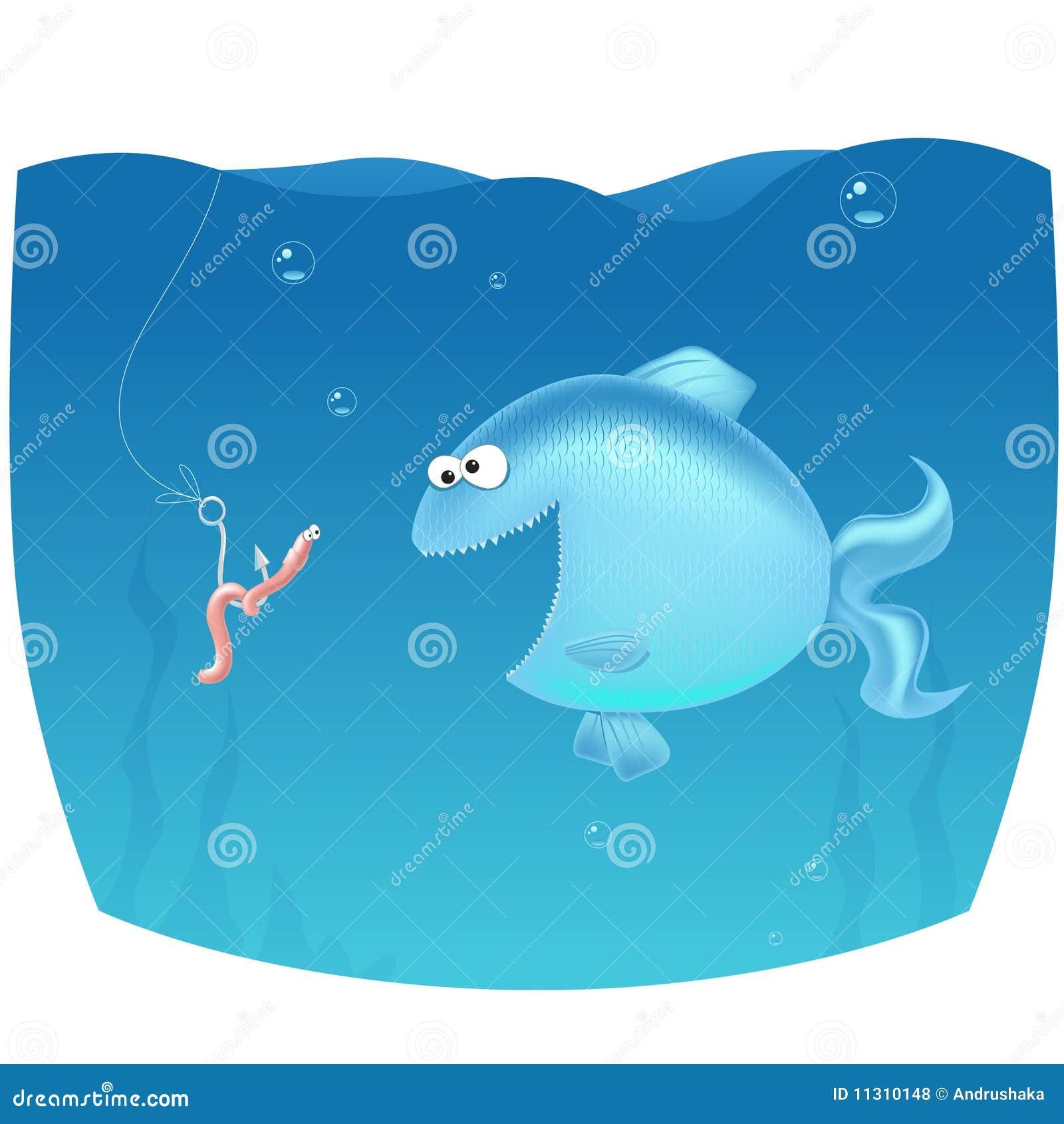 Schreckensendlosschraube auf Fischen