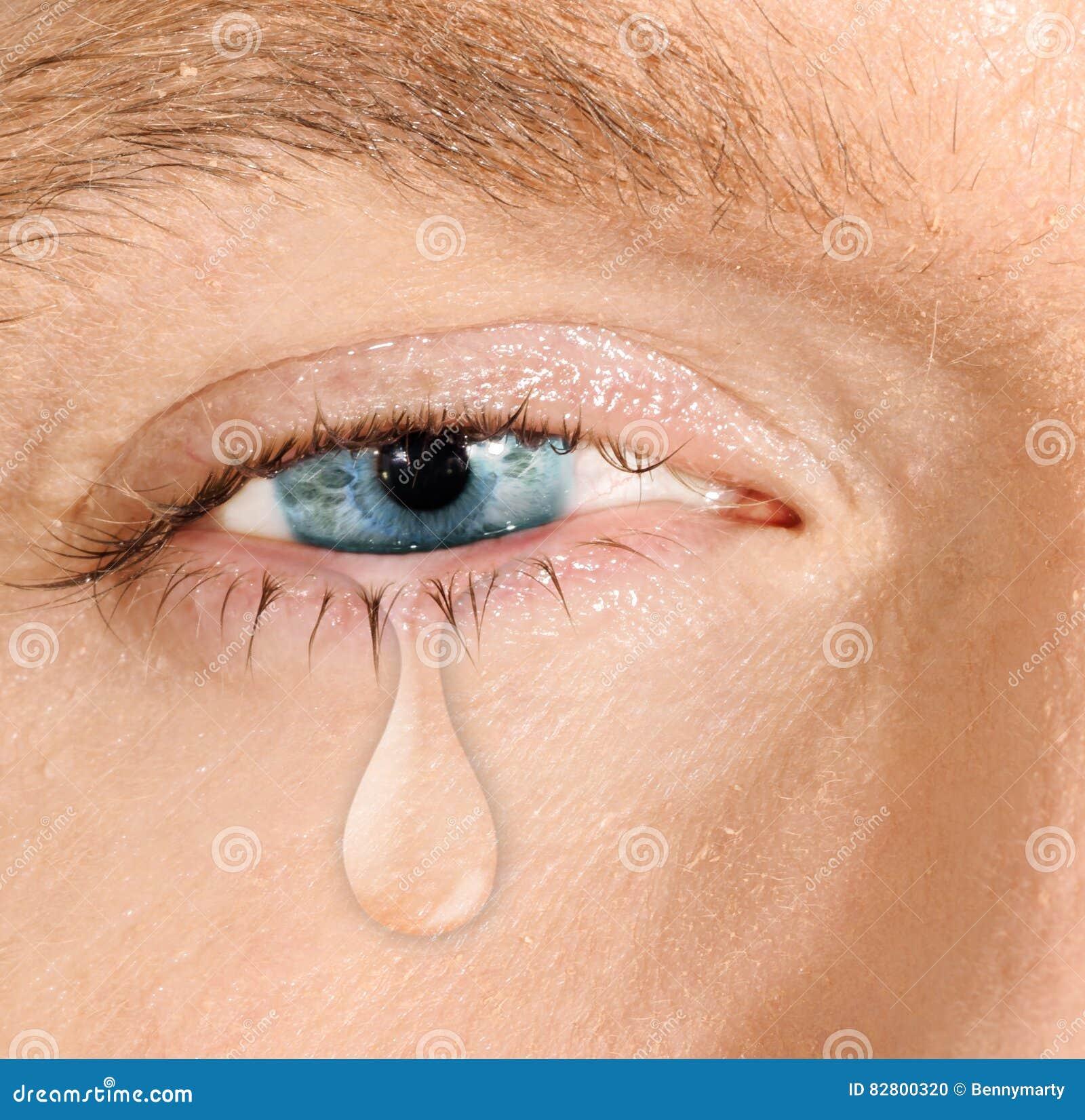 Schreeuwend blauw oog