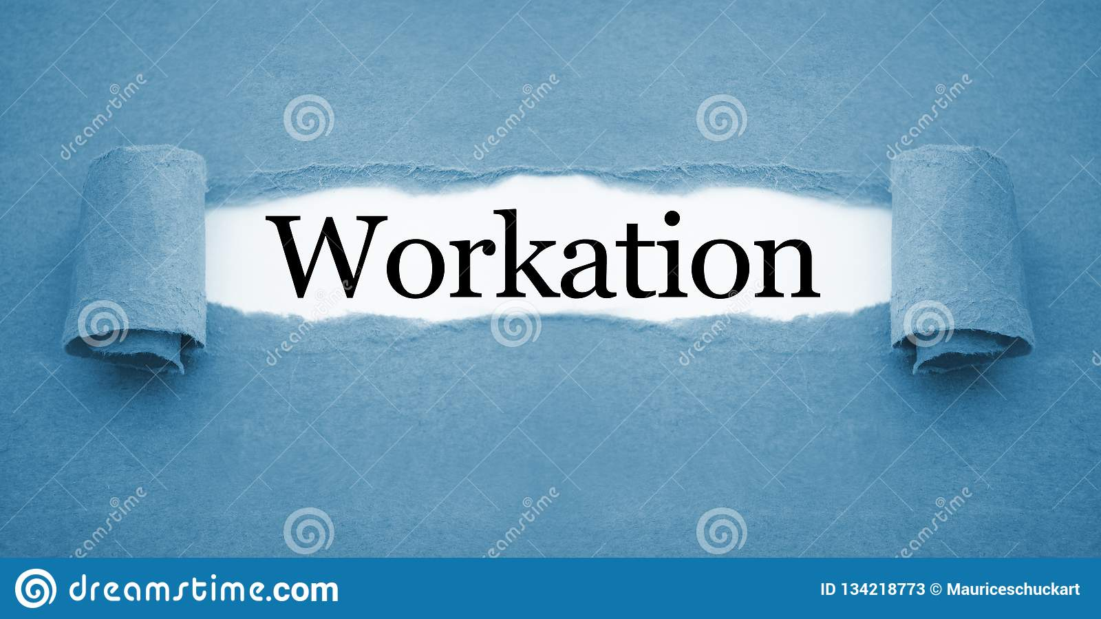 Schreibarbeit mit workation