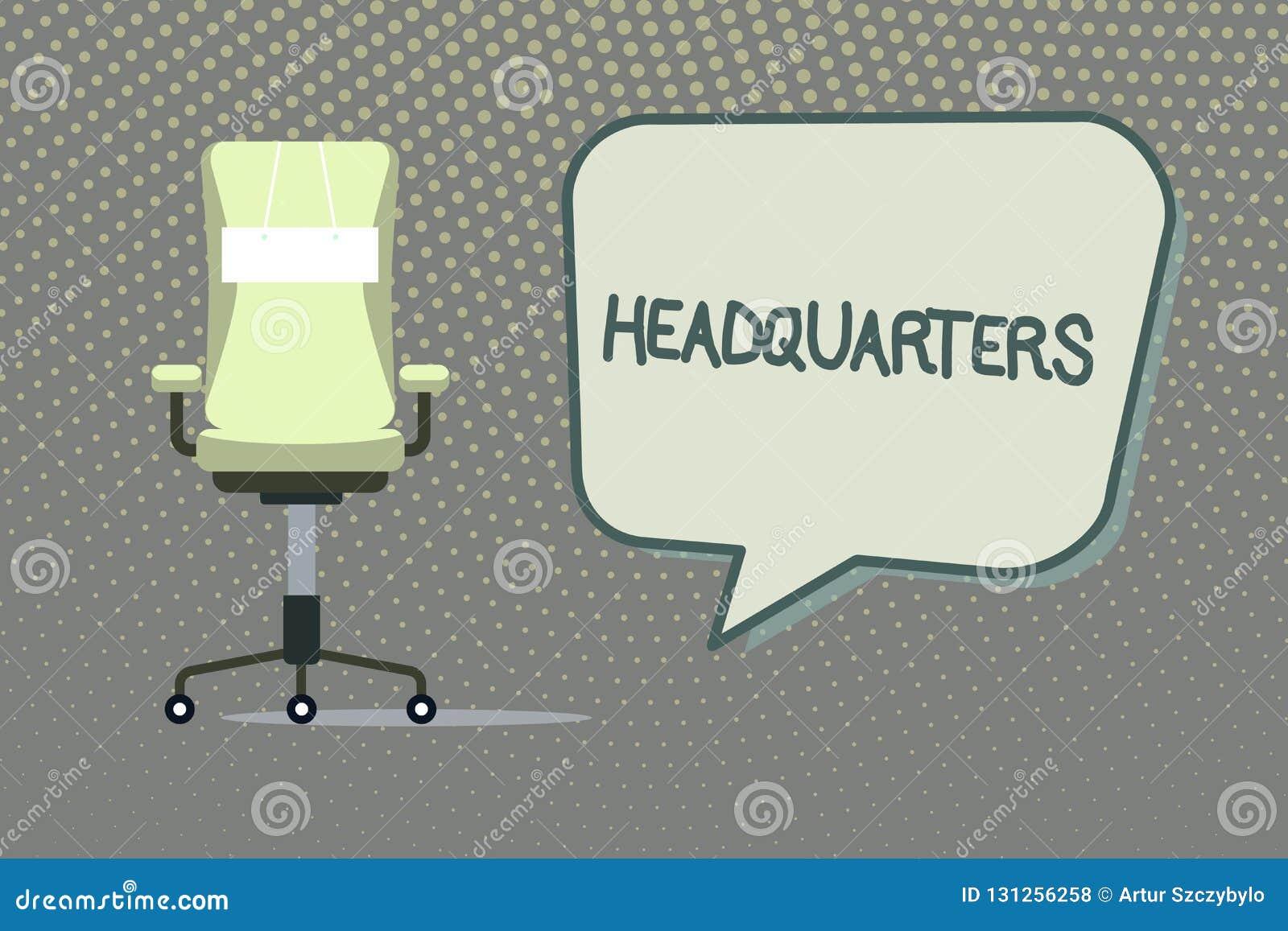 Schreiben der Anmerkung, die Hauptsitze zeigt Geschäftsfoto, das Haupt- Büros Voraussetzungen besetzt durch ein Militär-comanalys