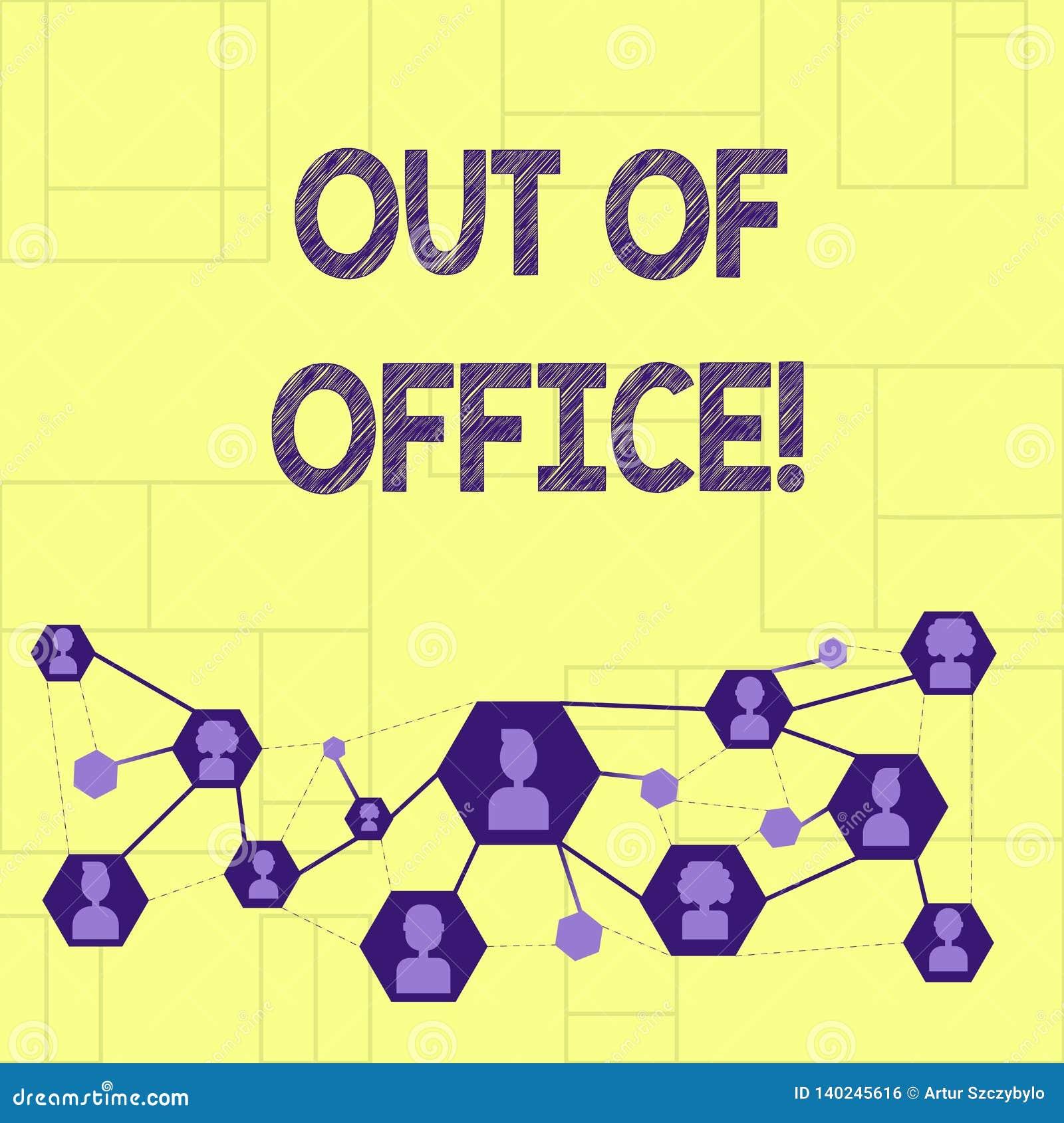 Schreiben von Anmerkung showingOut des Büros Das Geschäftsfoto, das außerhalb des Jobs niemand in der Geschäft Bruch-Freizeit zur