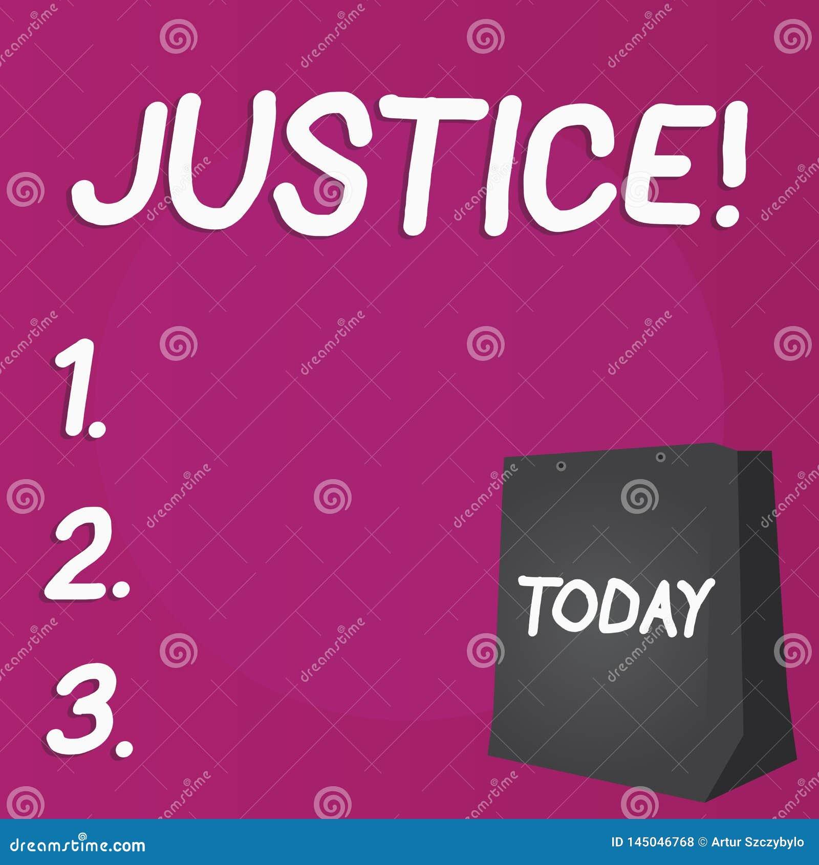 Schreibensanmerkung, die Gerechtigkeit zeigt Gesch?ftsfoto, das unparteiische Anpassung von kontroversen Anspr?chen oder von Aufg