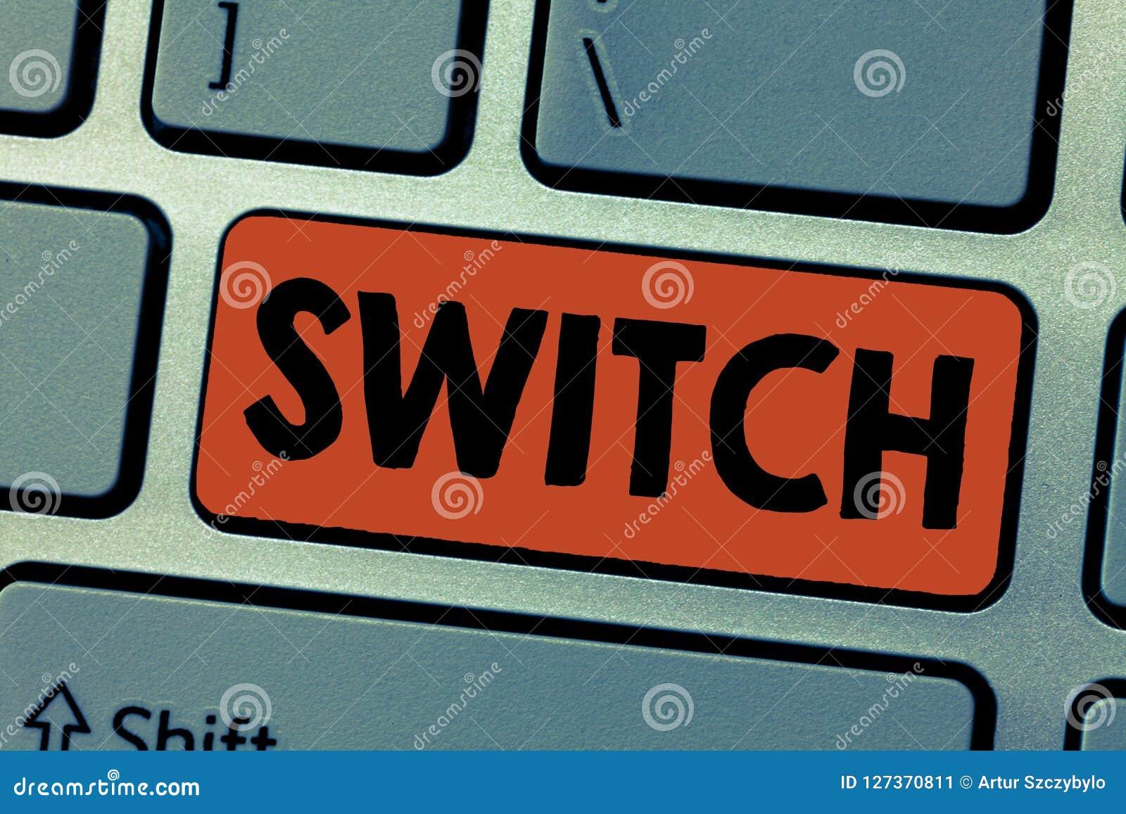 Schreibensanmerkung, die Schalter zeigt Präsentationsgerät des Geschäftsfotos für das Herstellen und das Brechen der Beziehung im