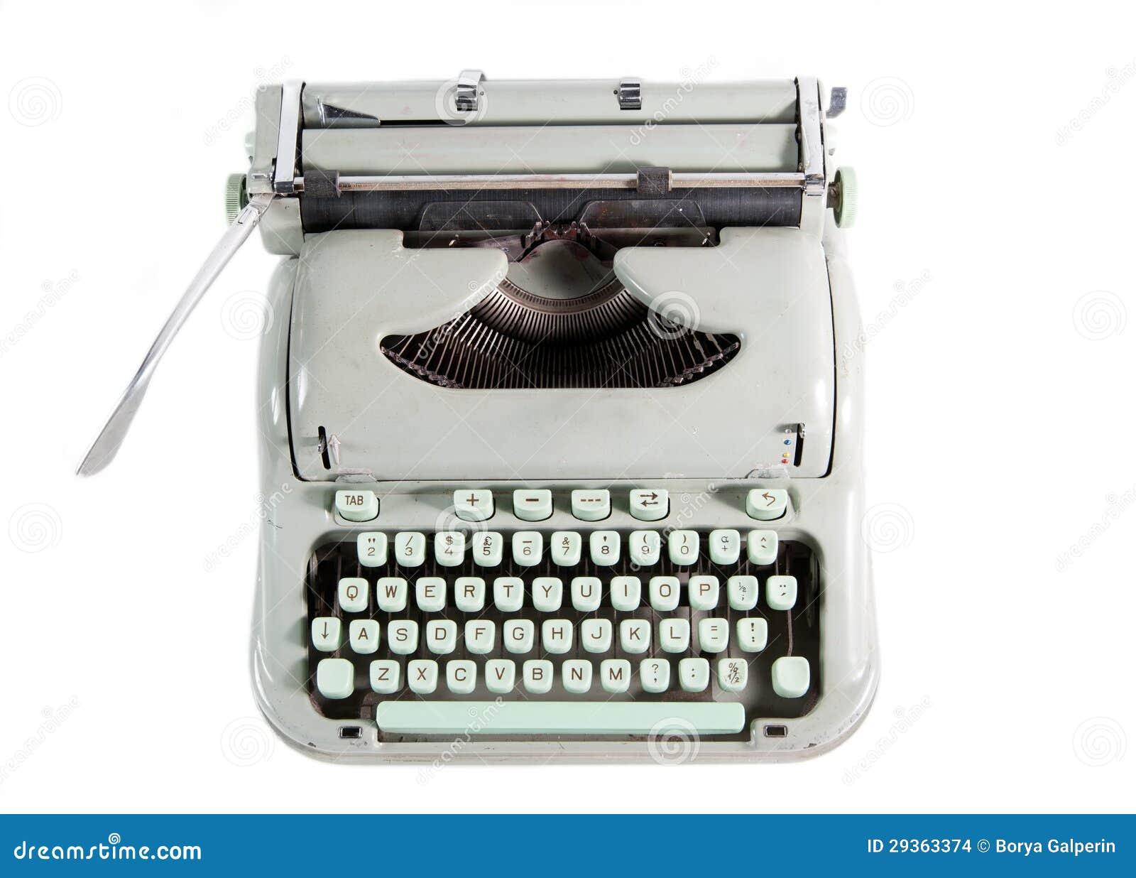 Schreibmaschine von oben stockfoto. Bild von überholt   10