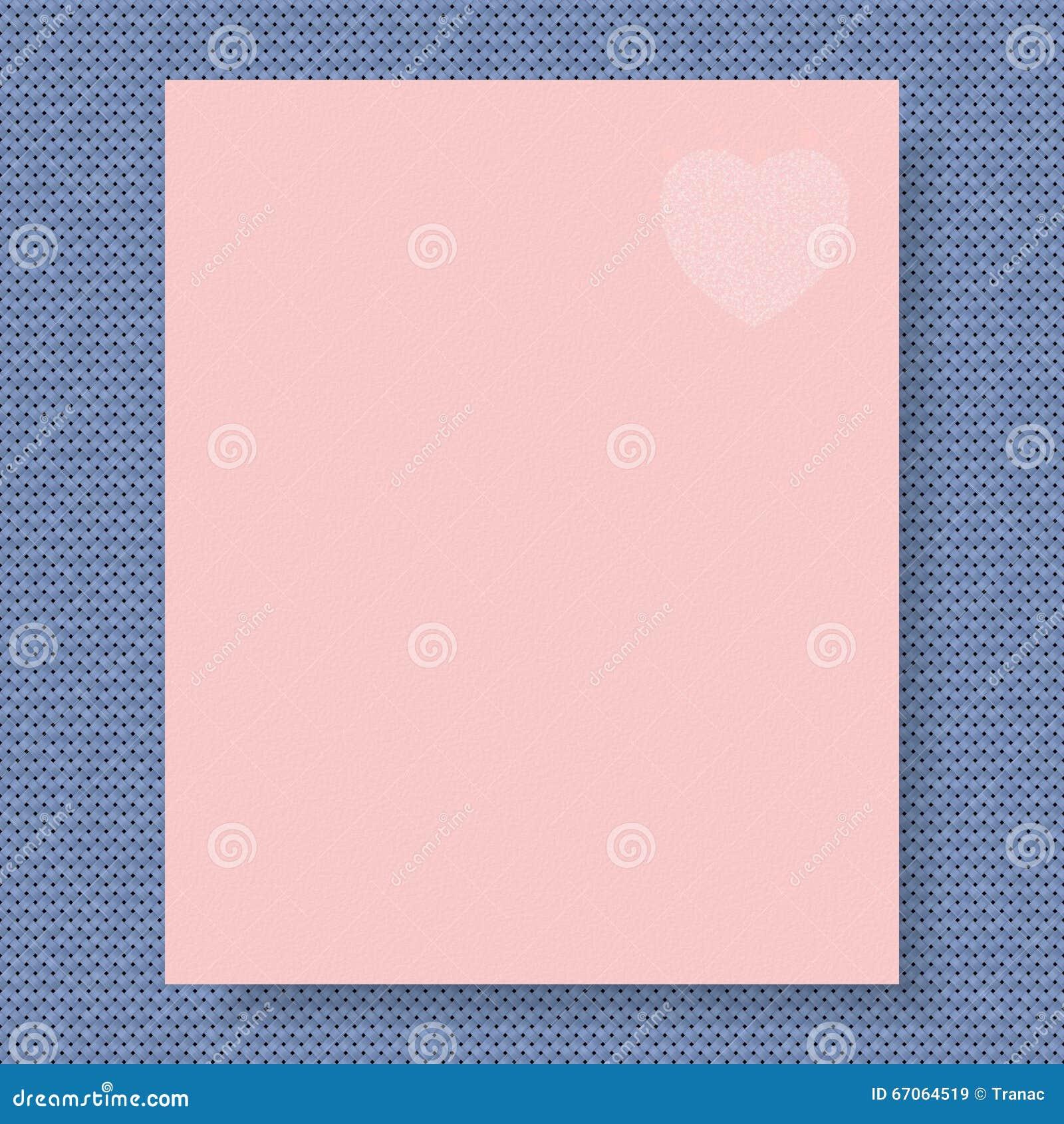Schreibpapier Auf Gestricktem Hintergrund In Der Farbe Des