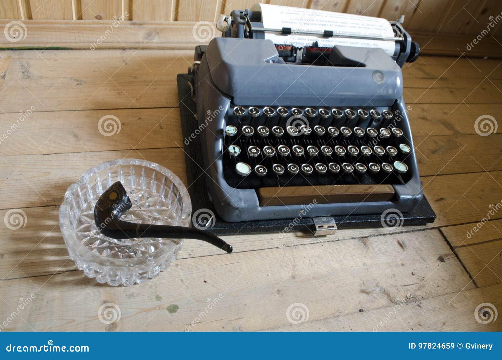 Schreibprozess Altes Schreibenmashine