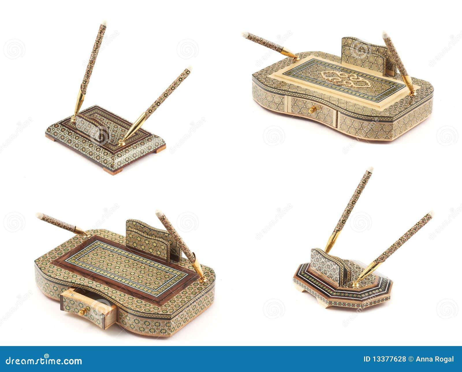 Schreibtischsets, verziert einem Mosaik.