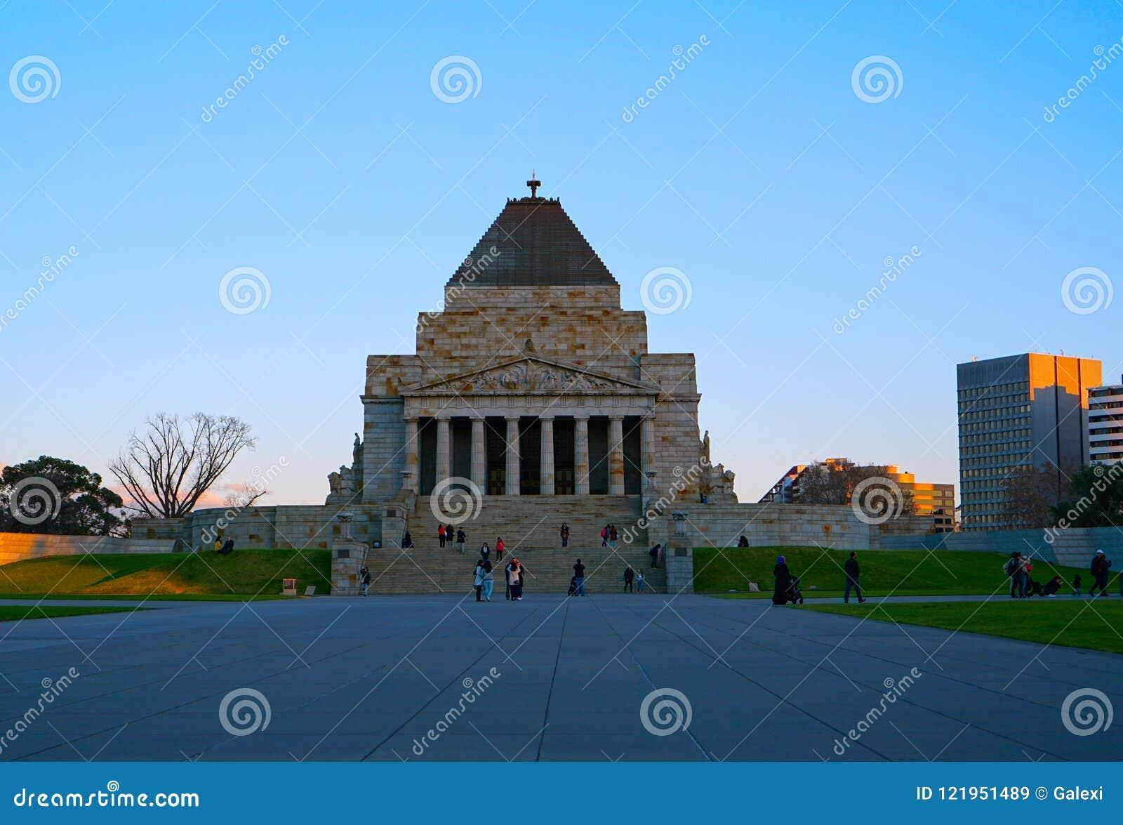 Schrein-Erinnerungs-Gebäude in Melbourne Australien