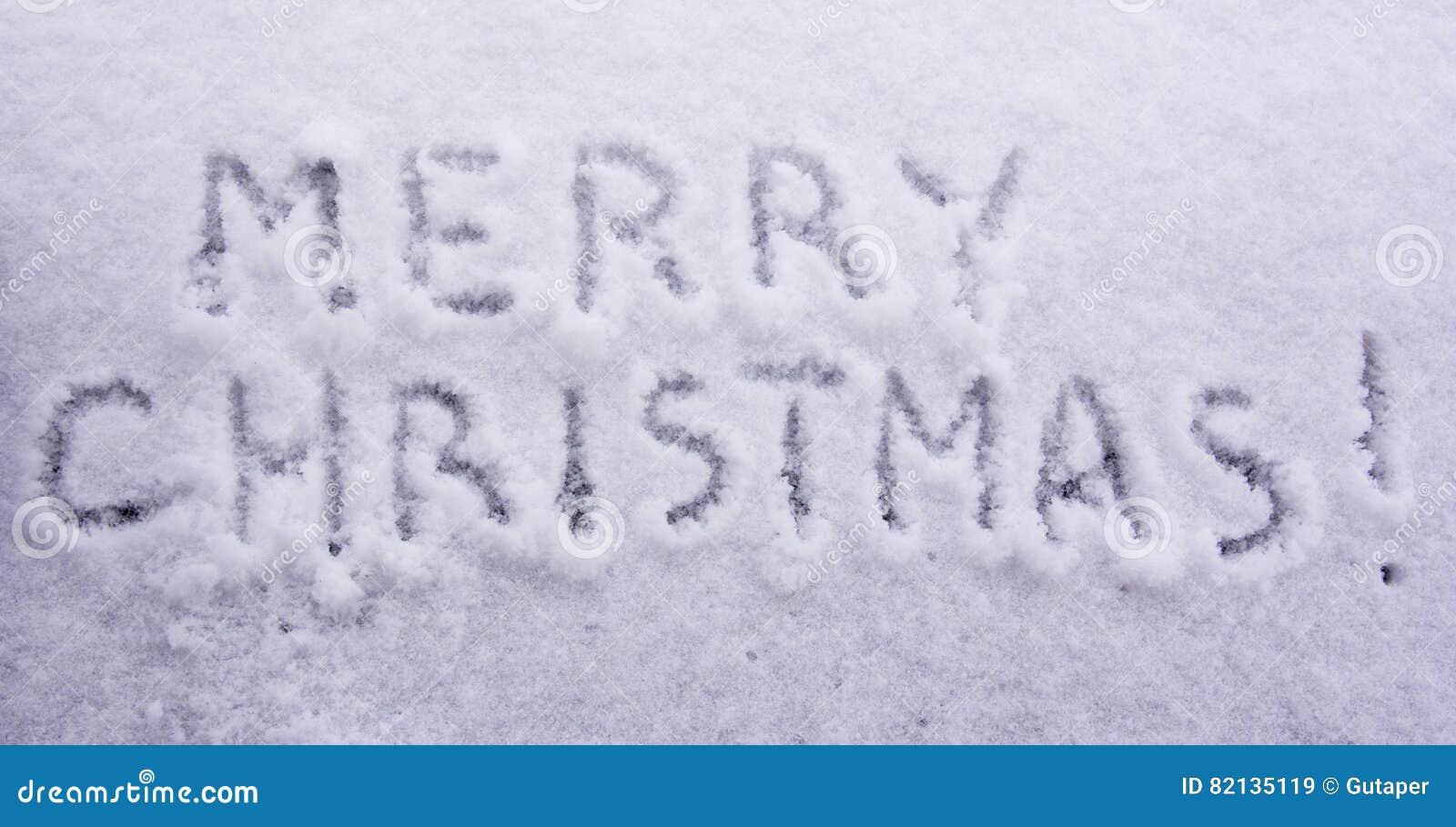 Schriftliche Wörter Frohe Weihnachten Auf Einem Weißen ...