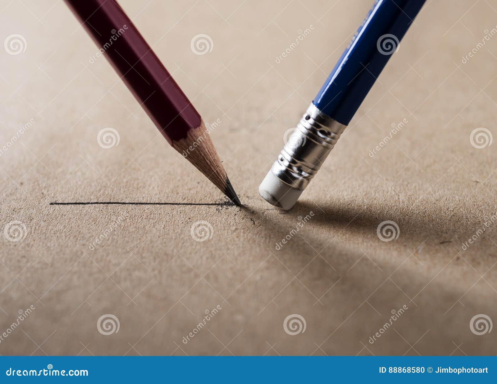 Schrijf en wis concept