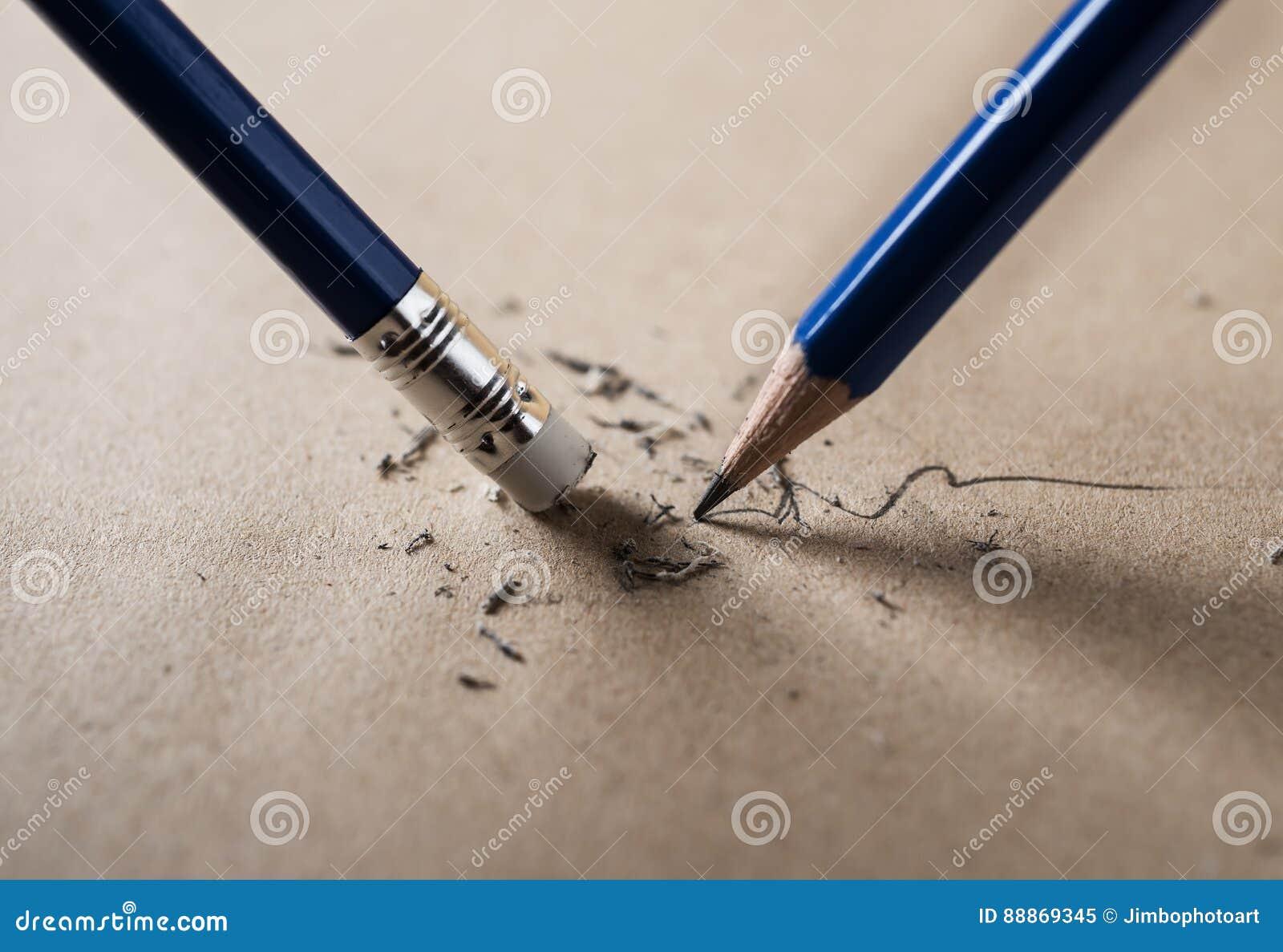 Schrijf gescherpt en wis concept