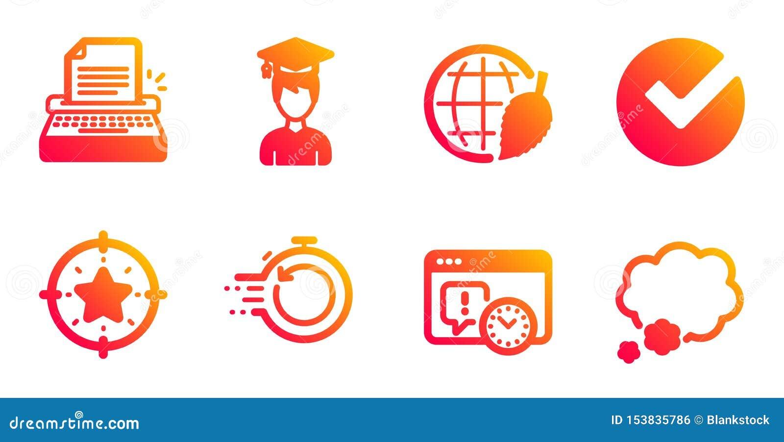Schrijfmachine, Snelle terugwinning en de pictogrammen geplaatste van de Projectuiterste termijn Verifieer, Student en Sterdoelte