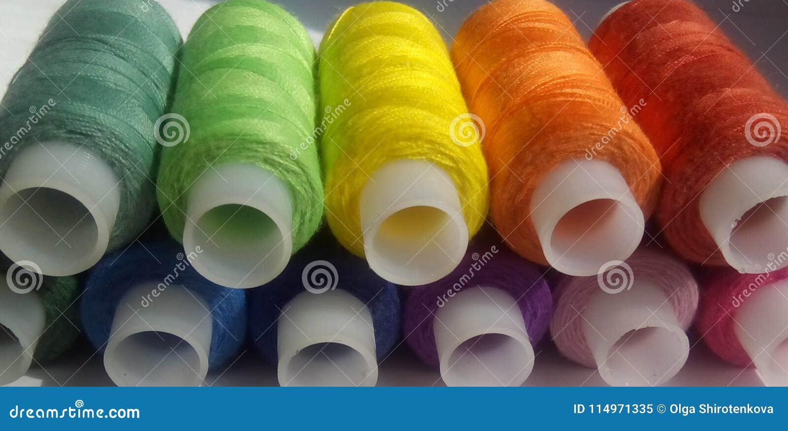Schrittspulen Regenbogen von Farben