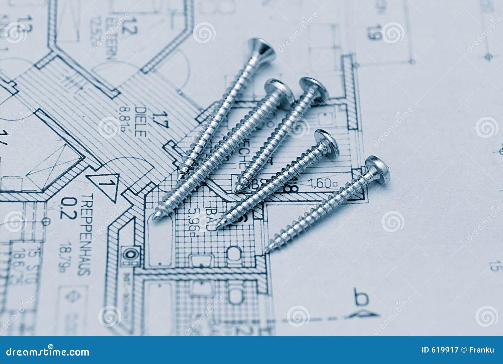 Schroeven op floorplan