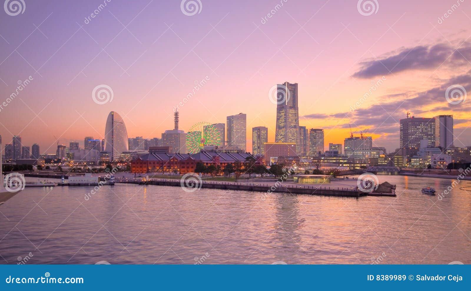 Schronienia Japan linia horyzontu Tokyo Yokohama