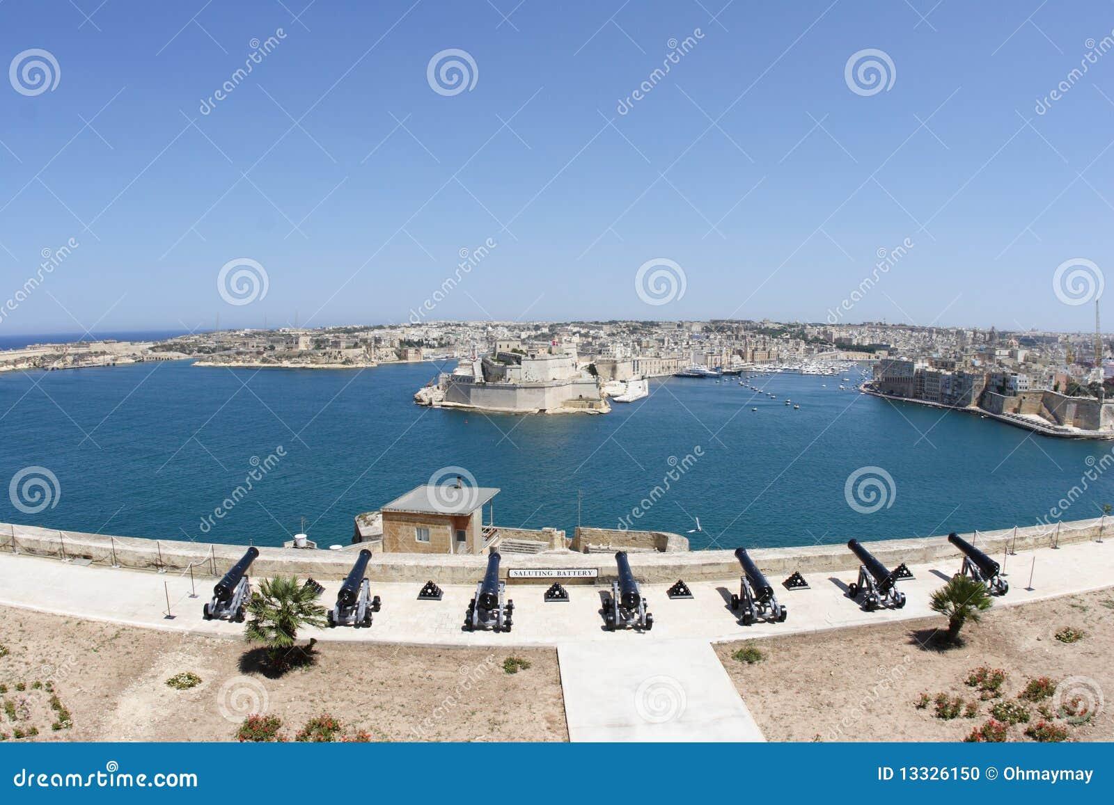 Schronienia Malta panoramiczny Valletta widok