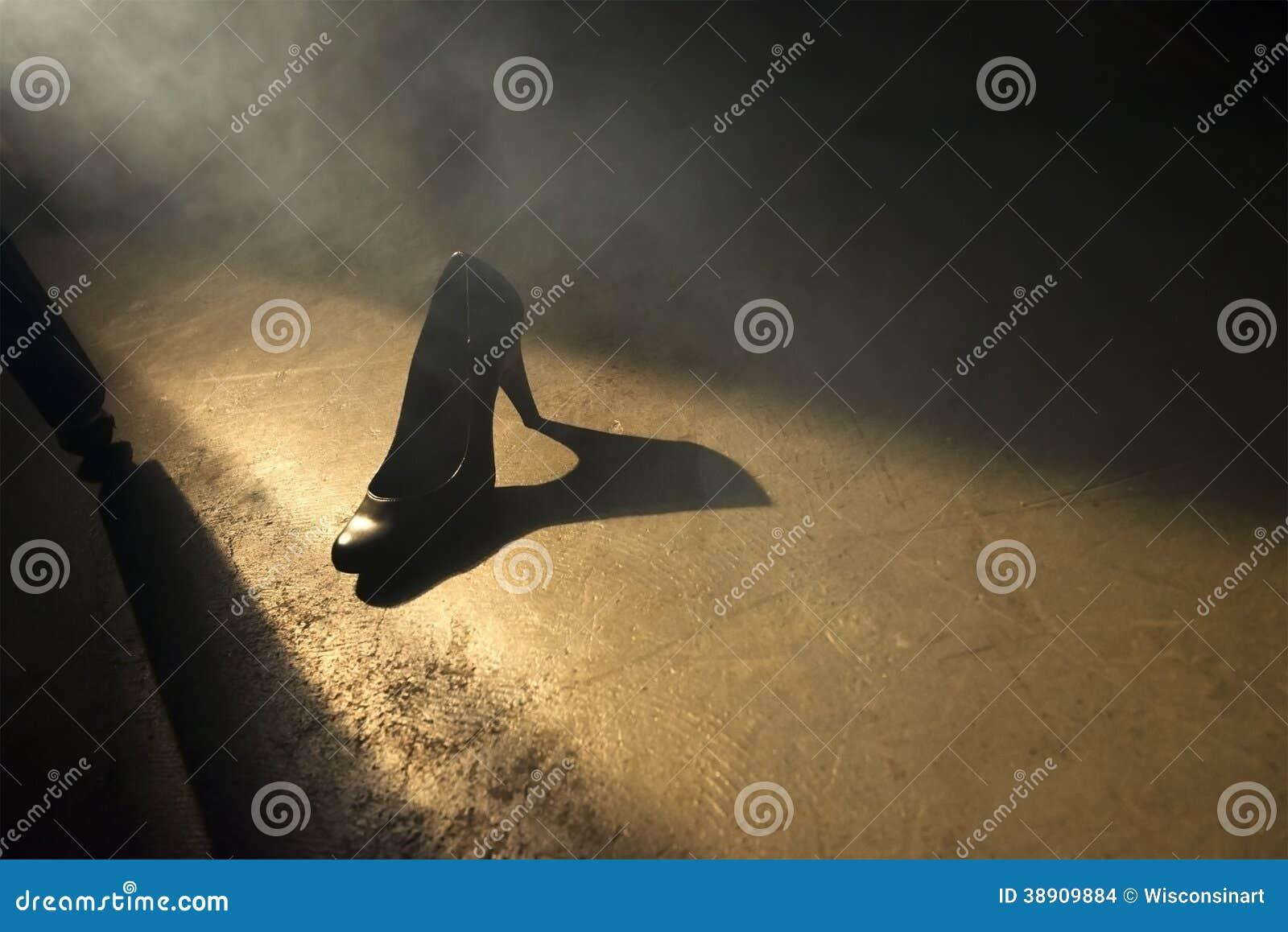 Schuh abstrakter des Liebes-Sex-Romance Datierungs-hohen Absatzes