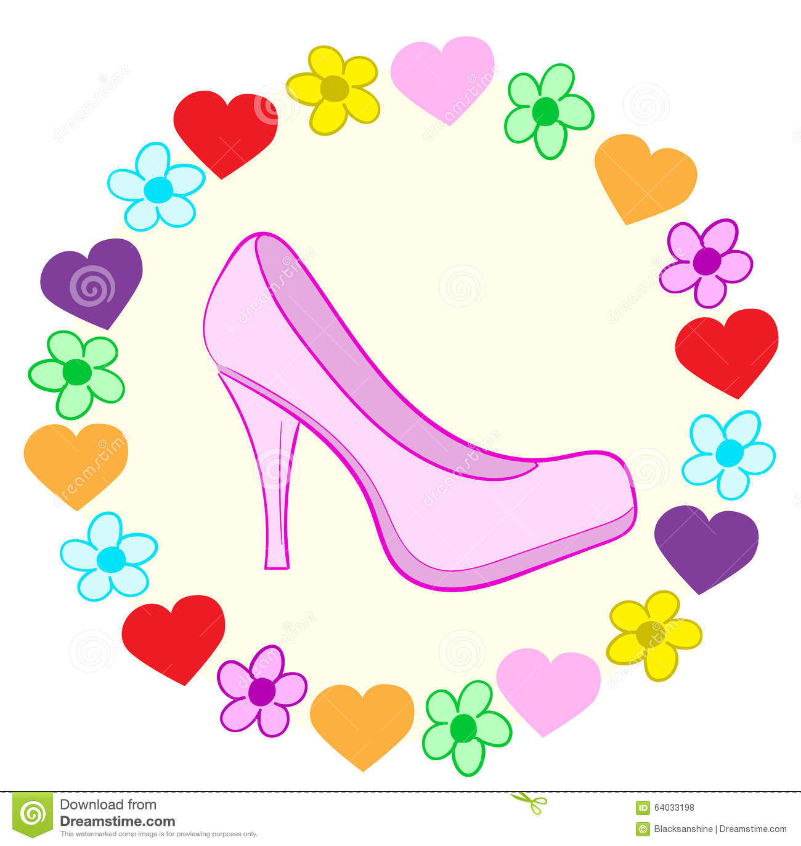 Schuh in einem Rahmen vektor abbildung. Illustration von elegant ...