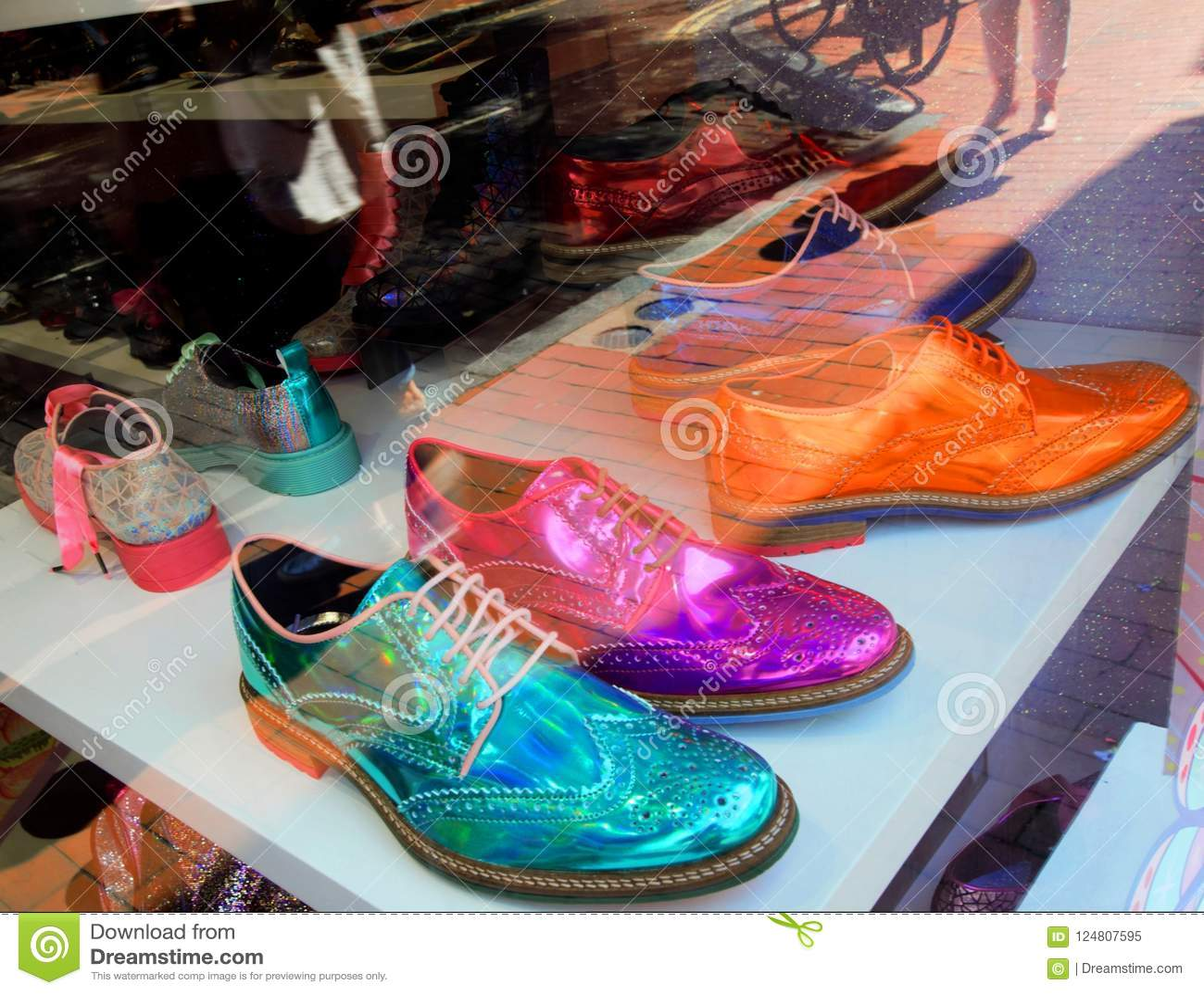 Schuh-Shop in Brighton, Vereinigtes Königreich