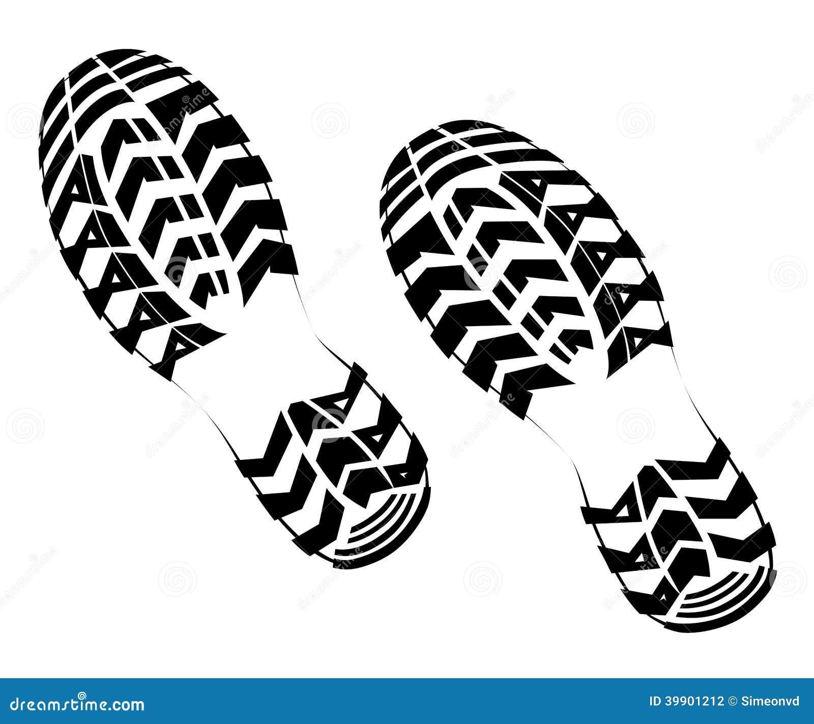 schuhabdruck vektor abbildung illustration von abdruck vector shoes silhouettes vector shoe print