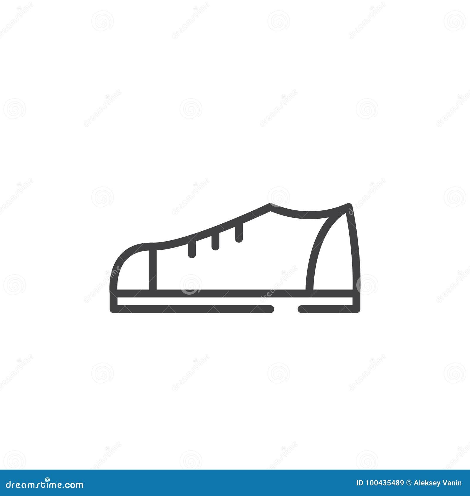 online store ee9b5 bfb64 Schuhlinie Ikone vektor abbildung. Illustration von einfach ...