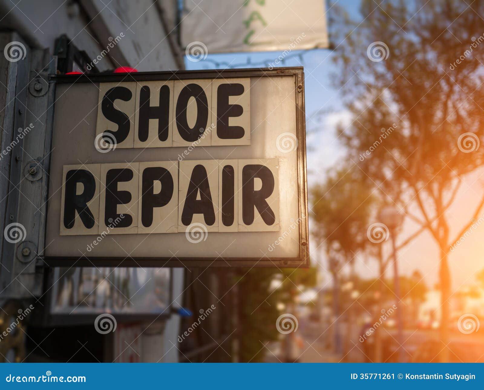 Schuhreparaturzeichen