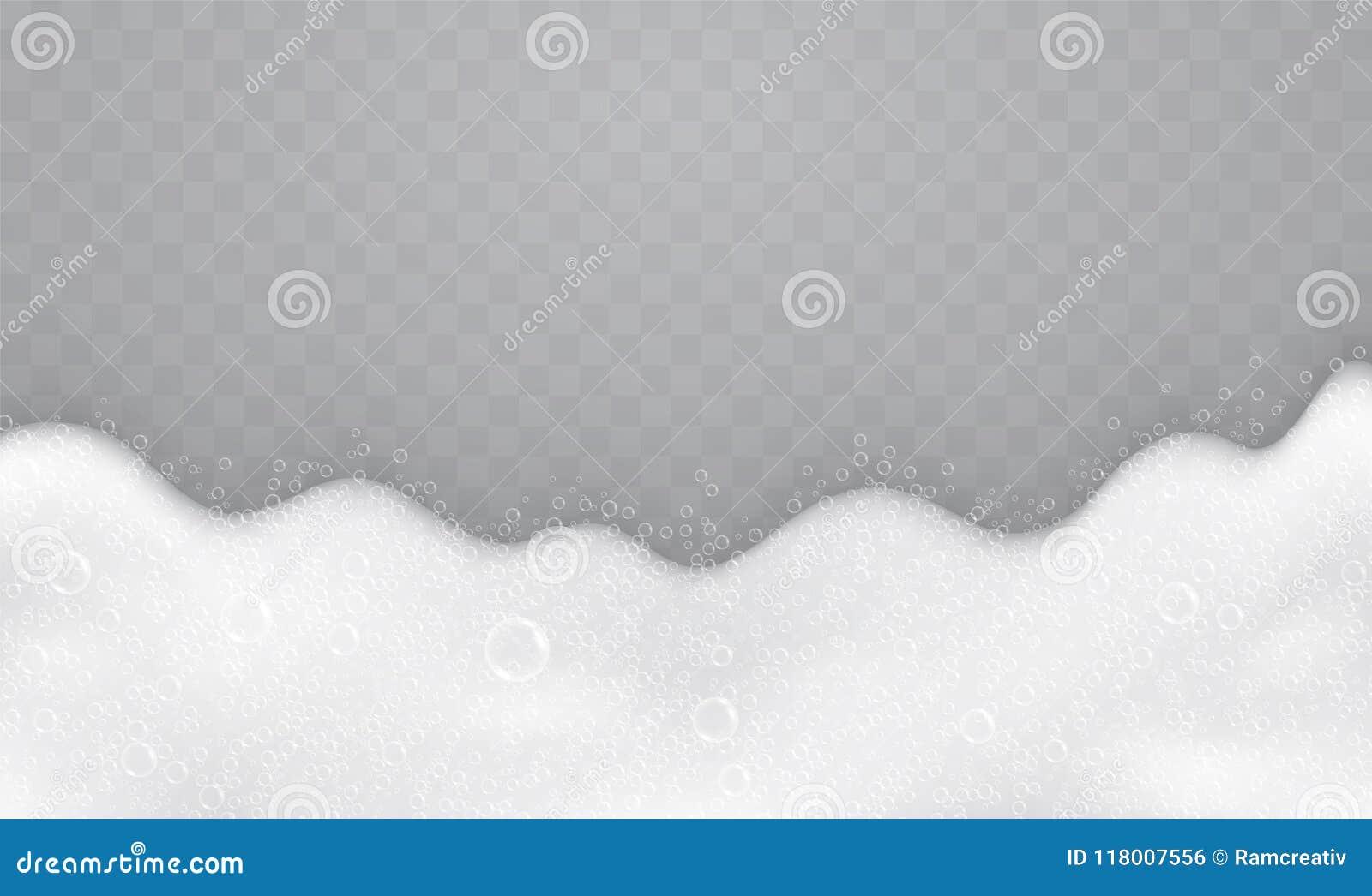 Schuim met zeepbels, hoogste mening Stroom van zeep en shampoo