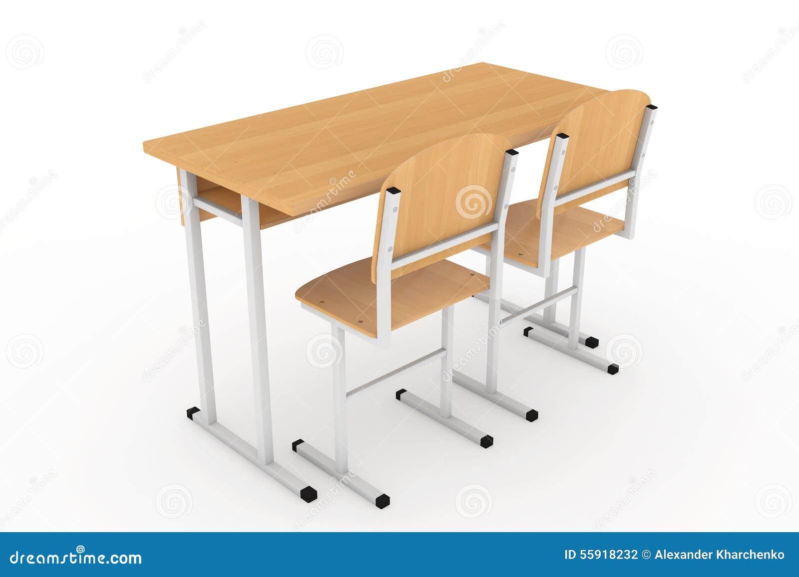 Schulbank zeichnung  Schulbank Und Stühle Stock Abbildung - Bild: 55918232