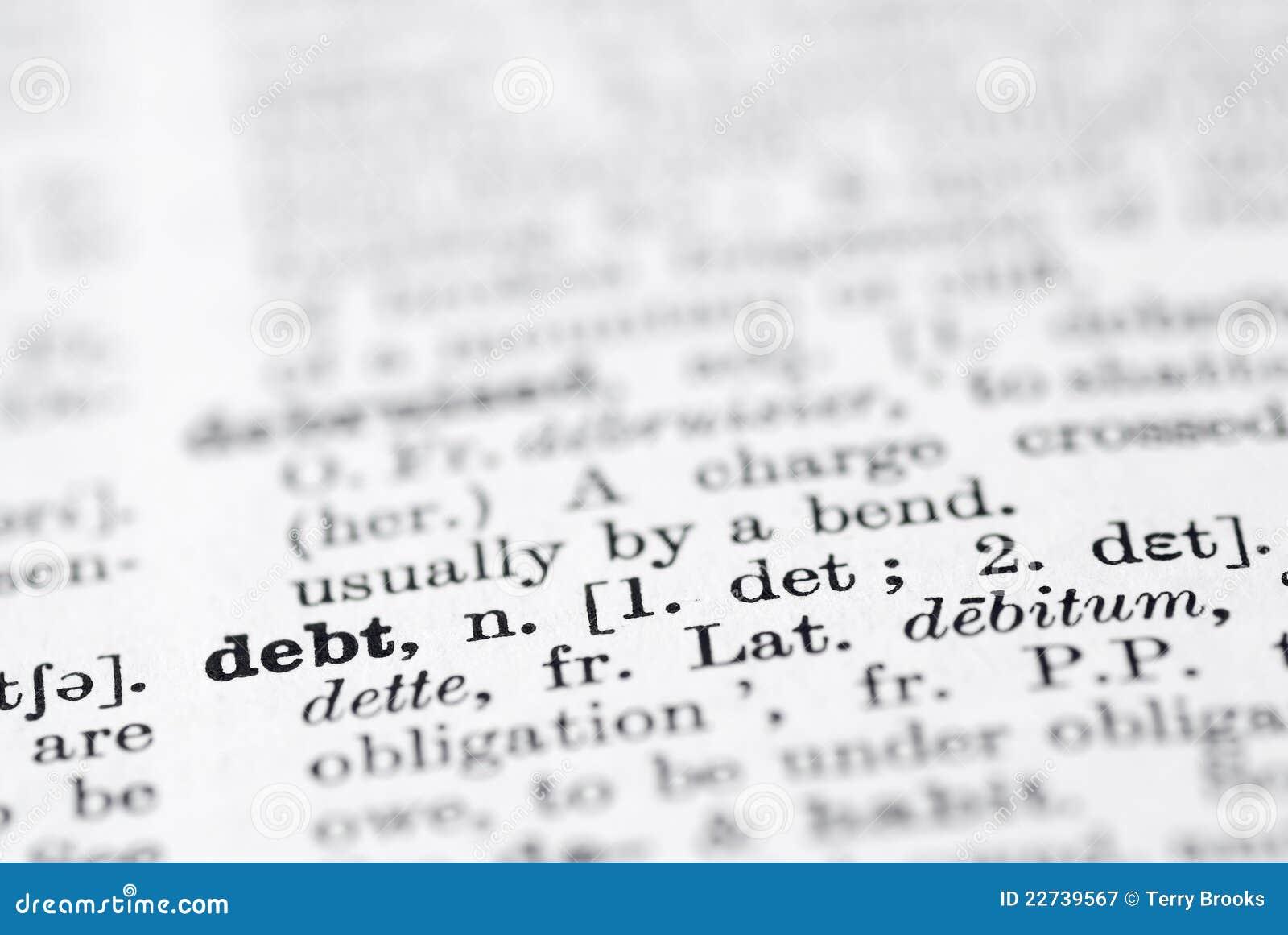 Schuld Definitie In Engels Woordenboek Stock Afbeelding