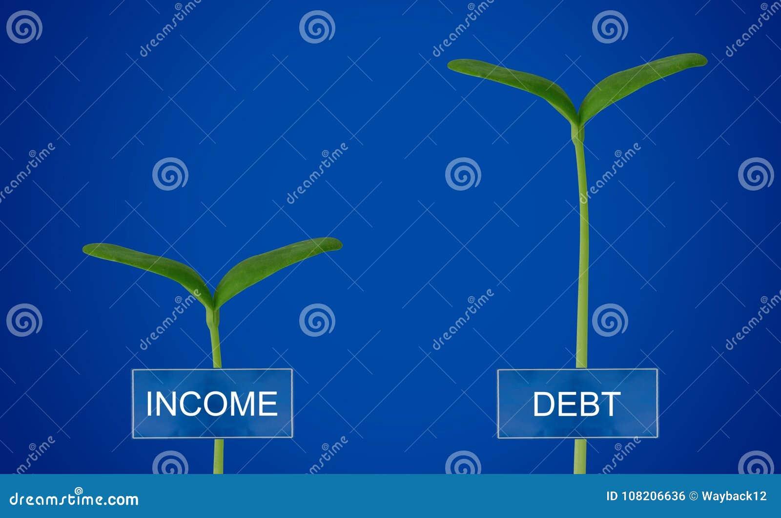 Schuld en Inkomen Conccept