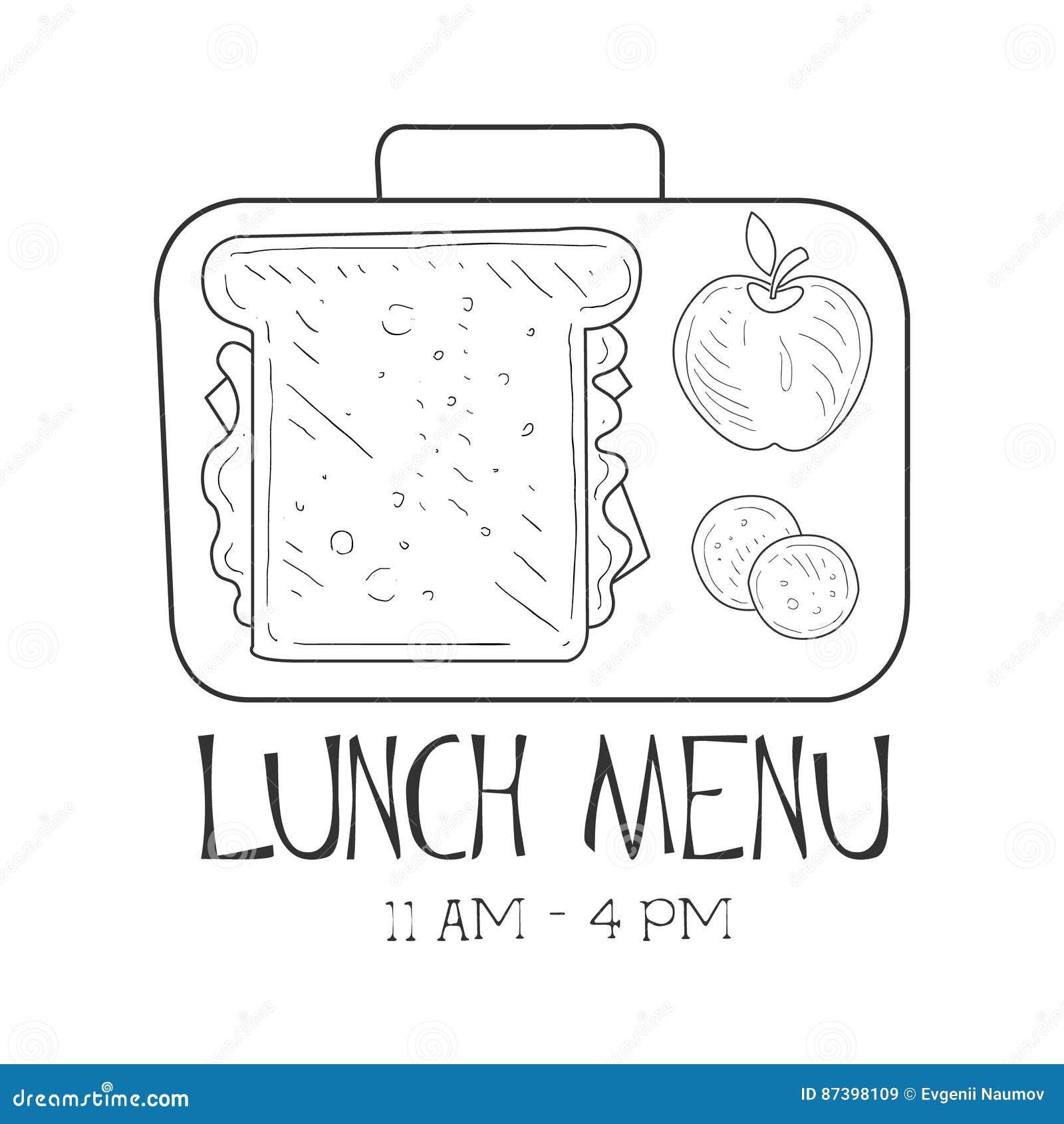 Schulelunchbox-Café-Mittagessen-Menü Promo Unterzeichnen Herein ...