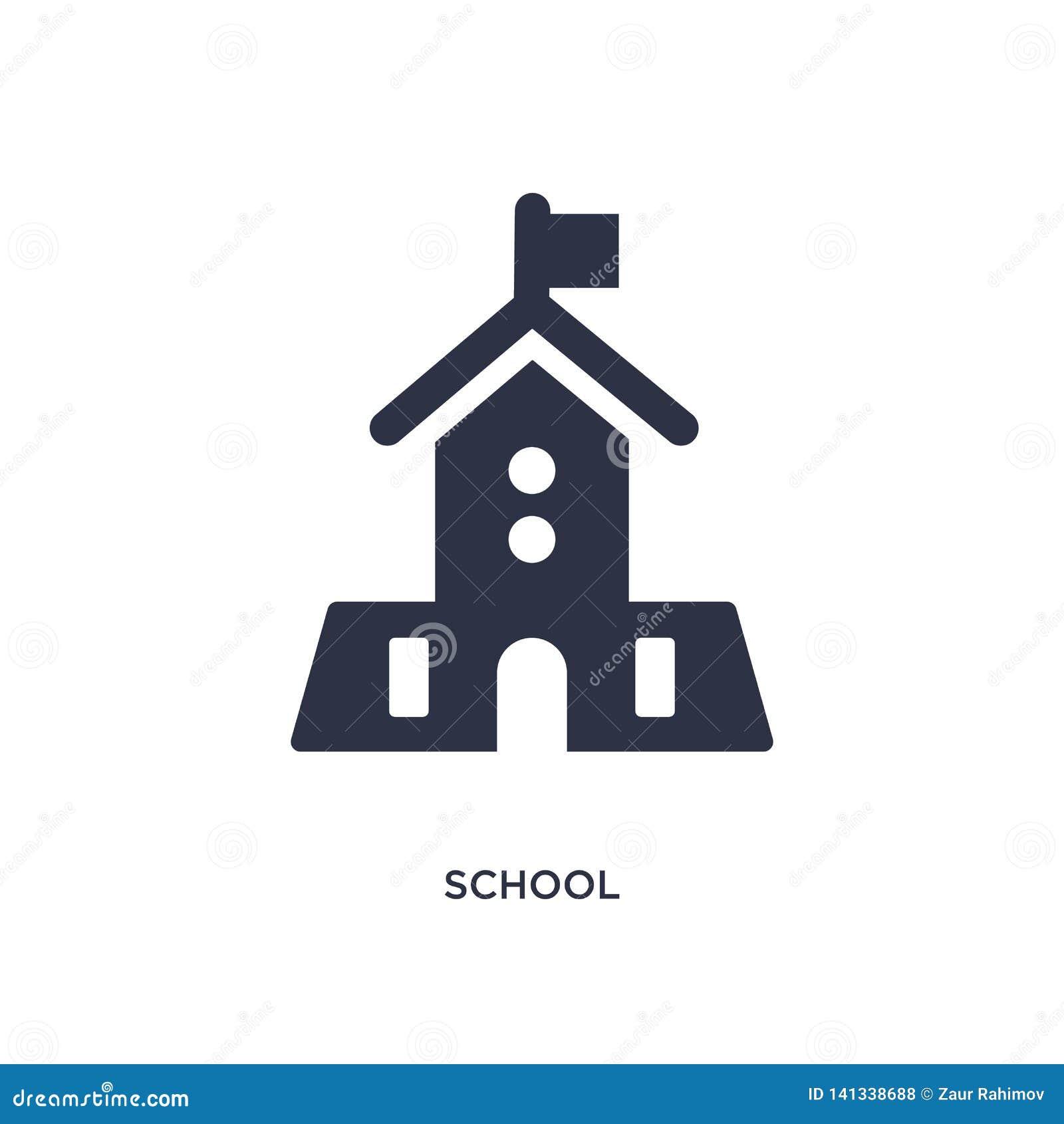 Schulikone auf weißem Hintergrund Einfache Elementillustration vom Konzept der Ausbildung 2