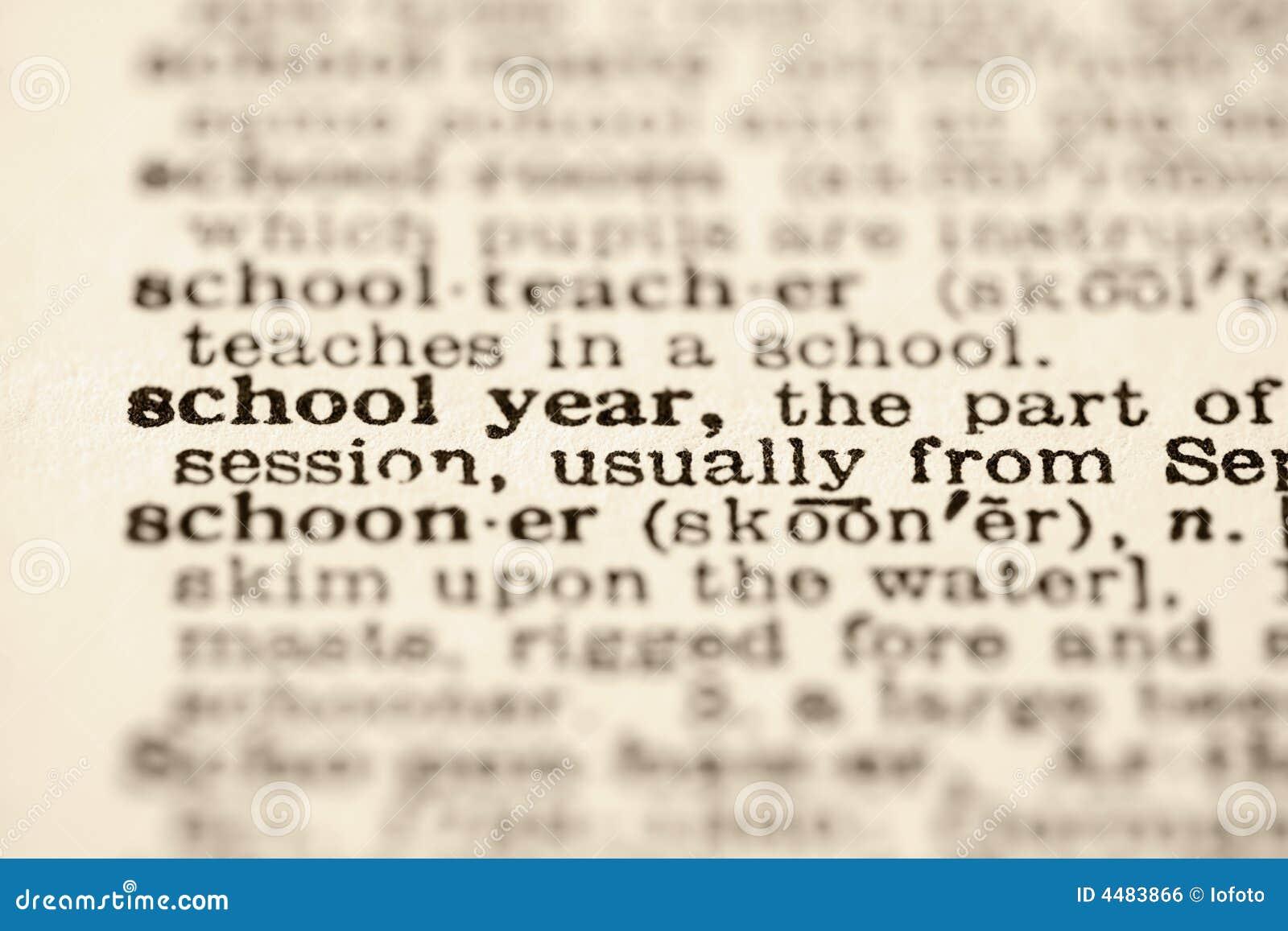 Schuljahrdefinition.