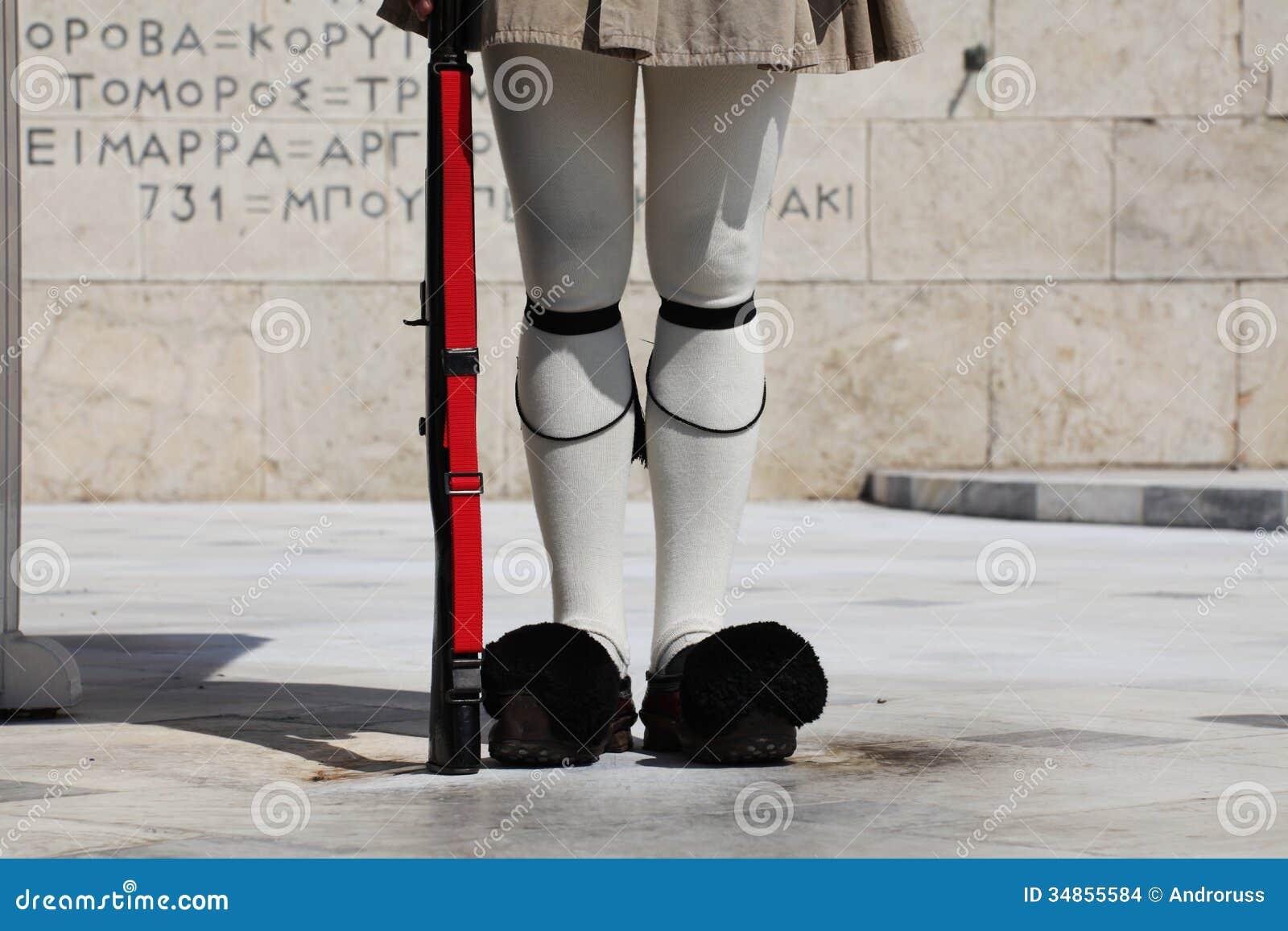 Schutz in Athen, Griechenland