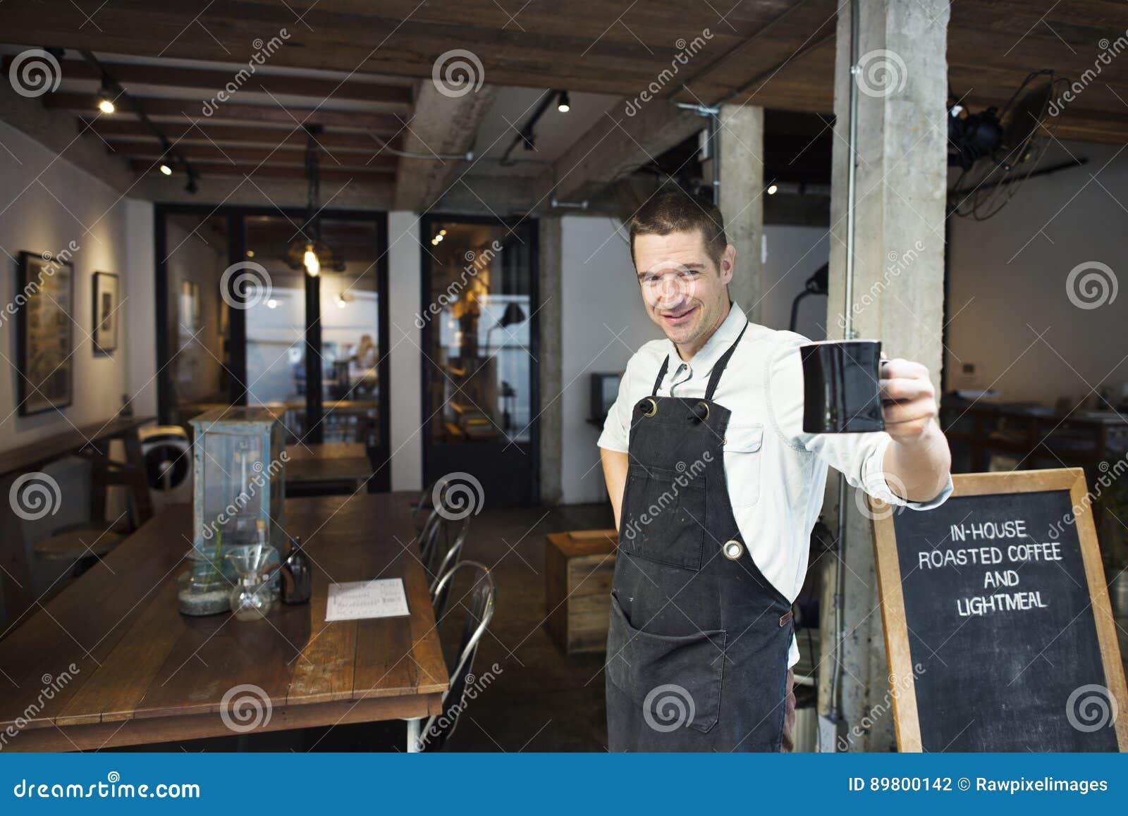 Schutzblech-Getränk-Geschäfts-Konzept Barista Coffee Steam Cafe