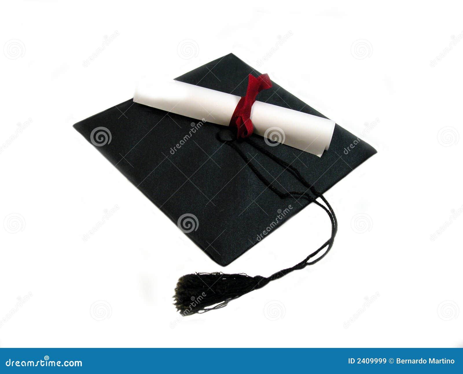 Schutzkappe und Diplom