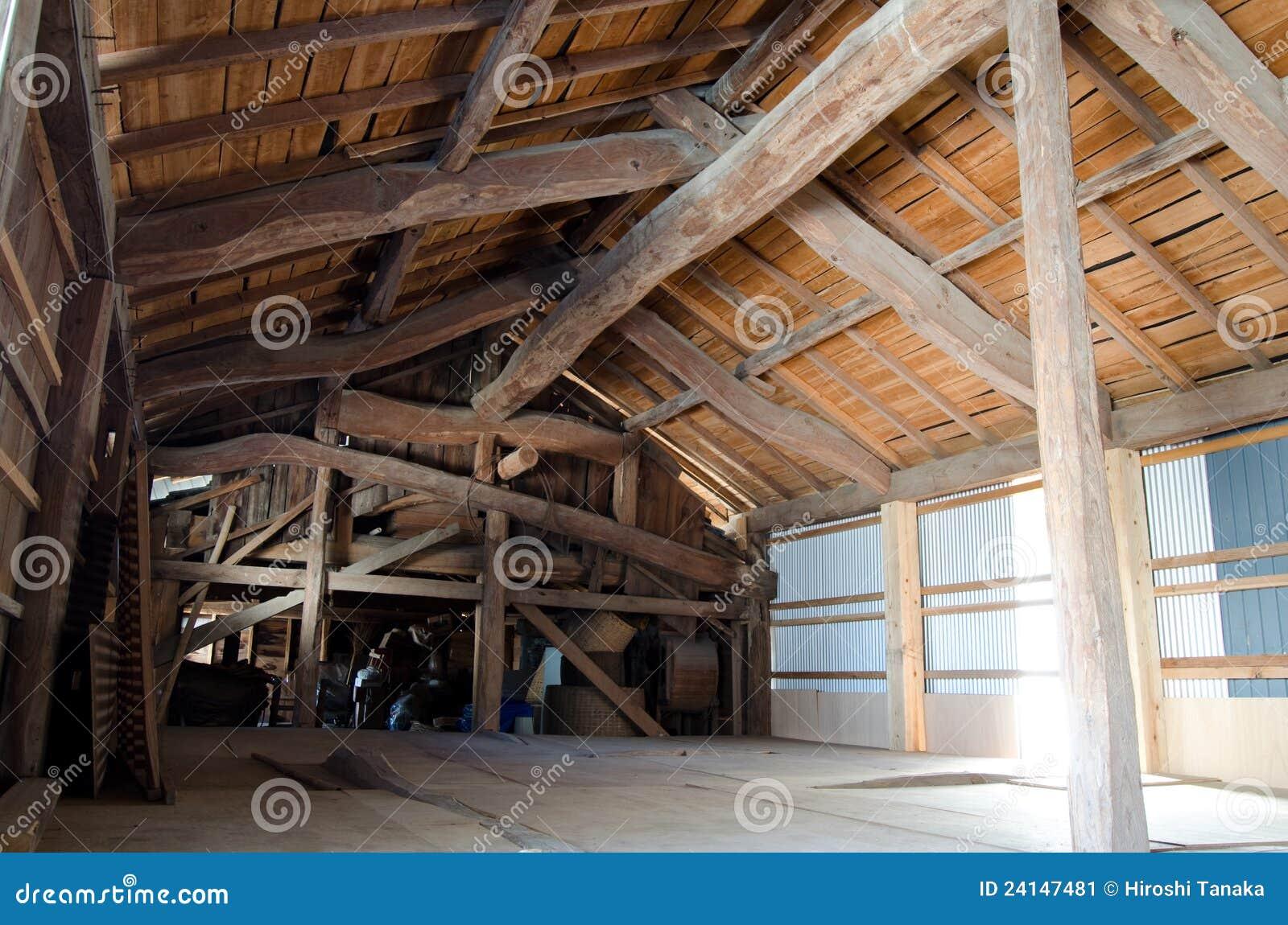 Schuur binnen stock afbeelding afbeelding bestaande uit pakhuis 24147481 - Binnen houten huis ...