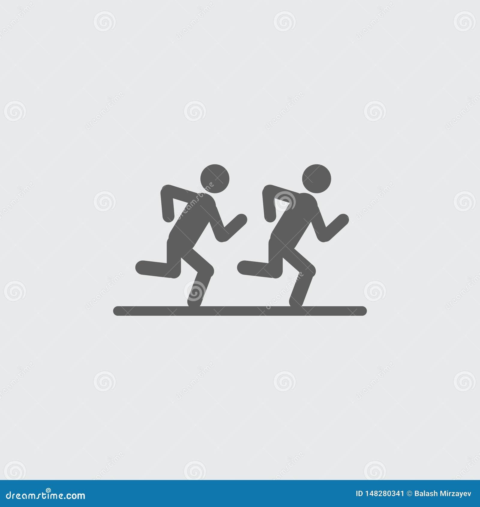 Schwärzen Sie flache Läufervektorikone