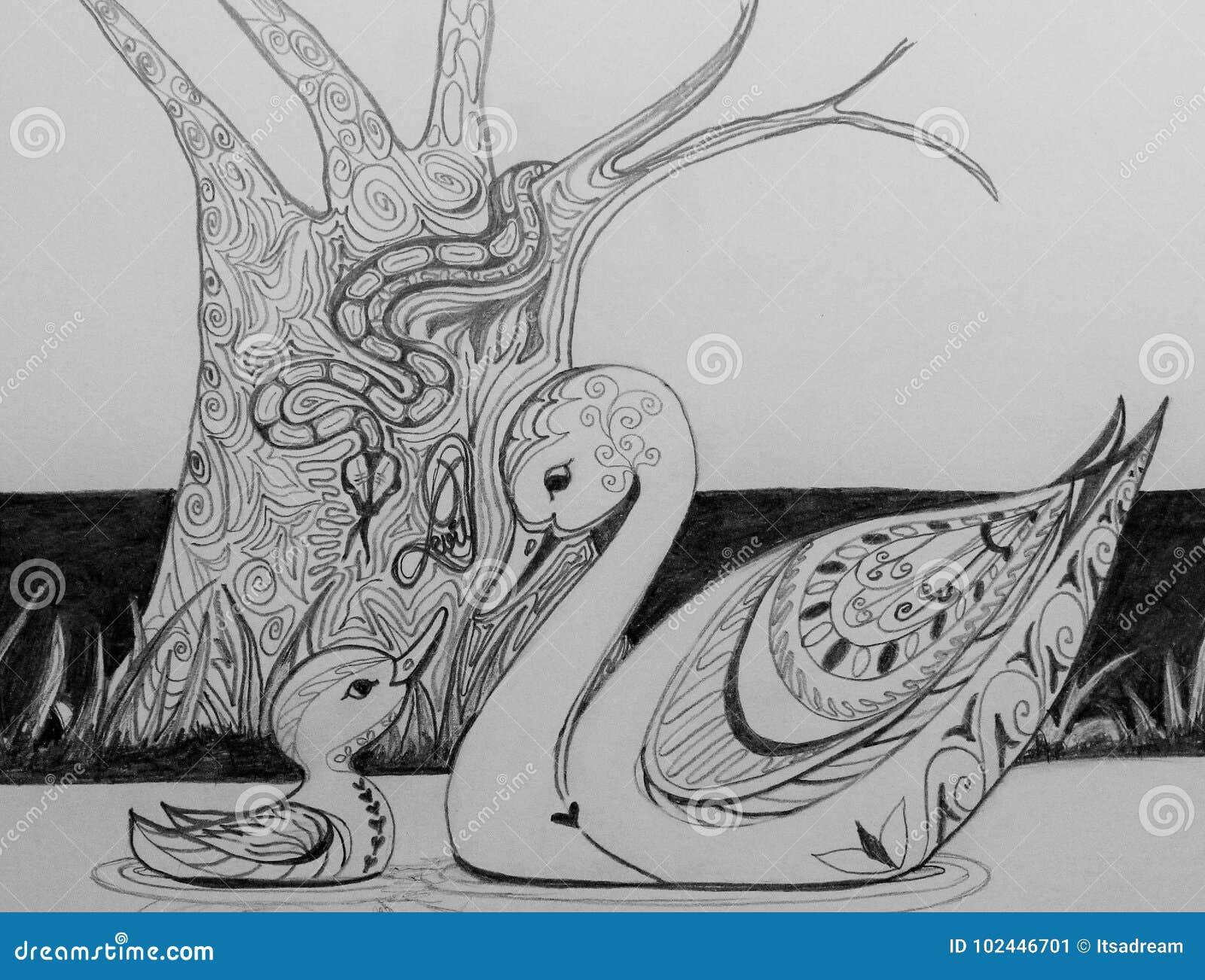Schwan und ihr cignet vergesslich von der teuflischen Schlange